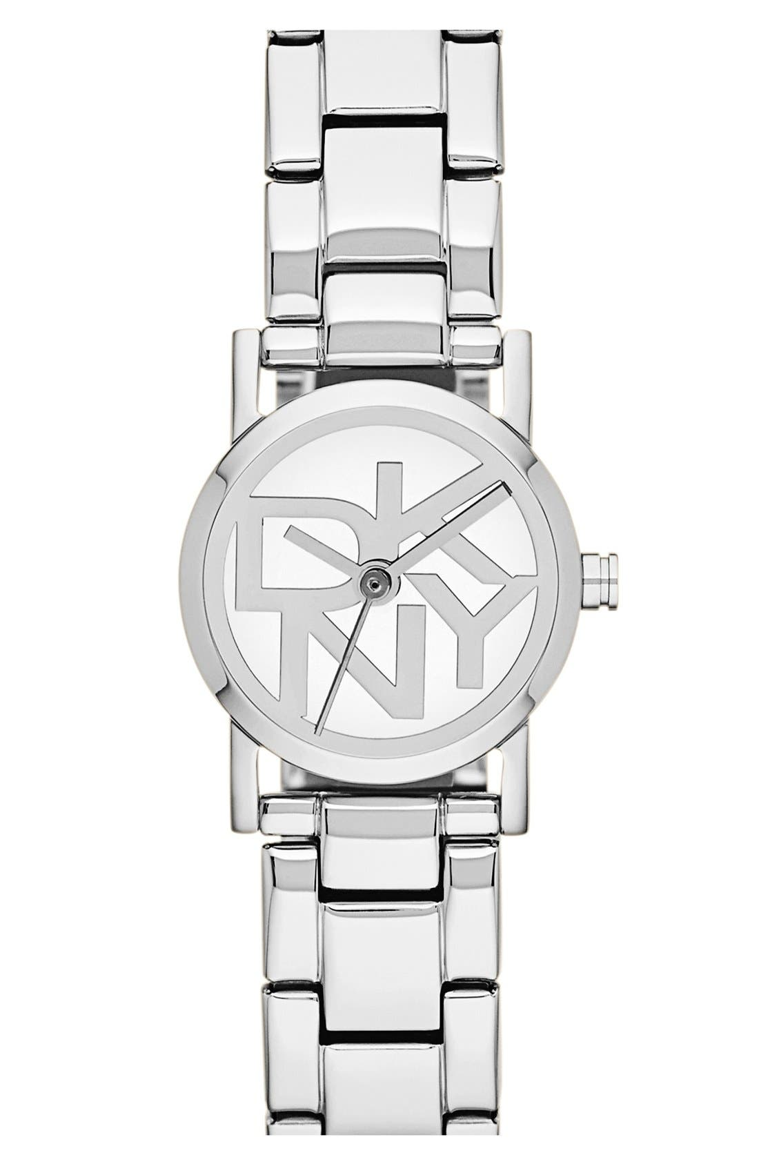 Alternate Image 1 Selected - DKNY Mini Logo Dial Bracelet Watch, 20mm