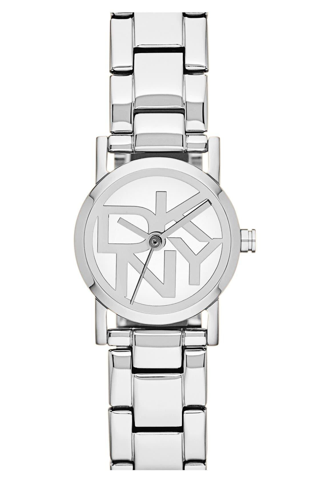 Main Image - DKNY Mini Logo Dial Bracelet Watch, 20mm