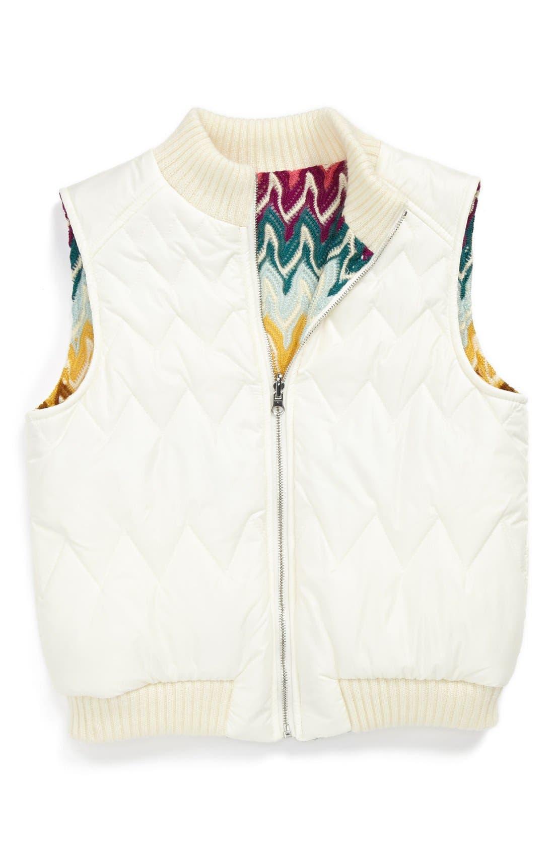 Alternate Image 1 Selected - Missoni Reversible Vest (Toddler Girls, Little Girls & Big Girls)