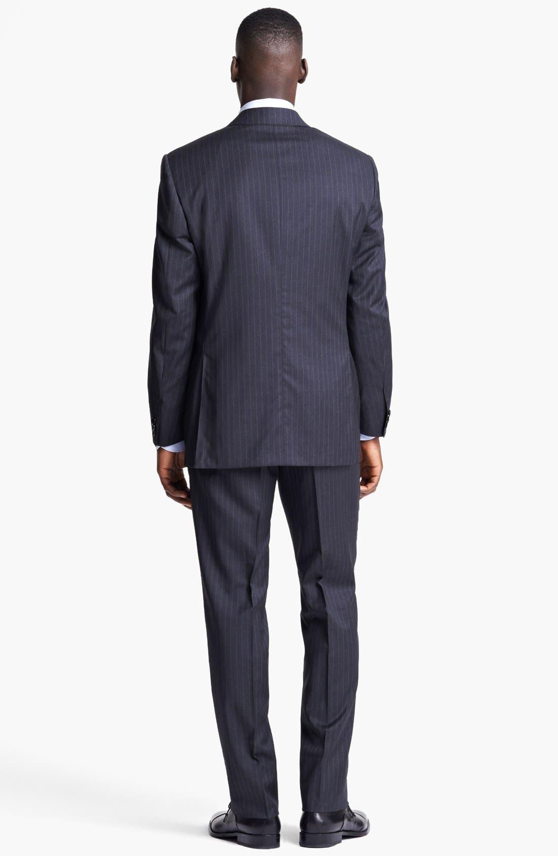 Alternate Image 3  - Canali Classic Fit Stripe Suit