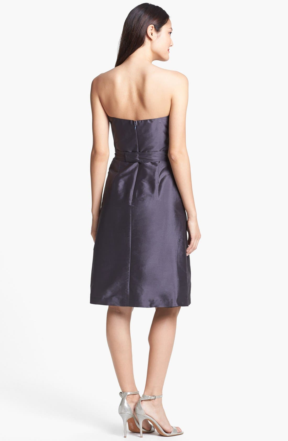 Alternate Image 2  - Alfred Sung Satin Fit & Flare Dress