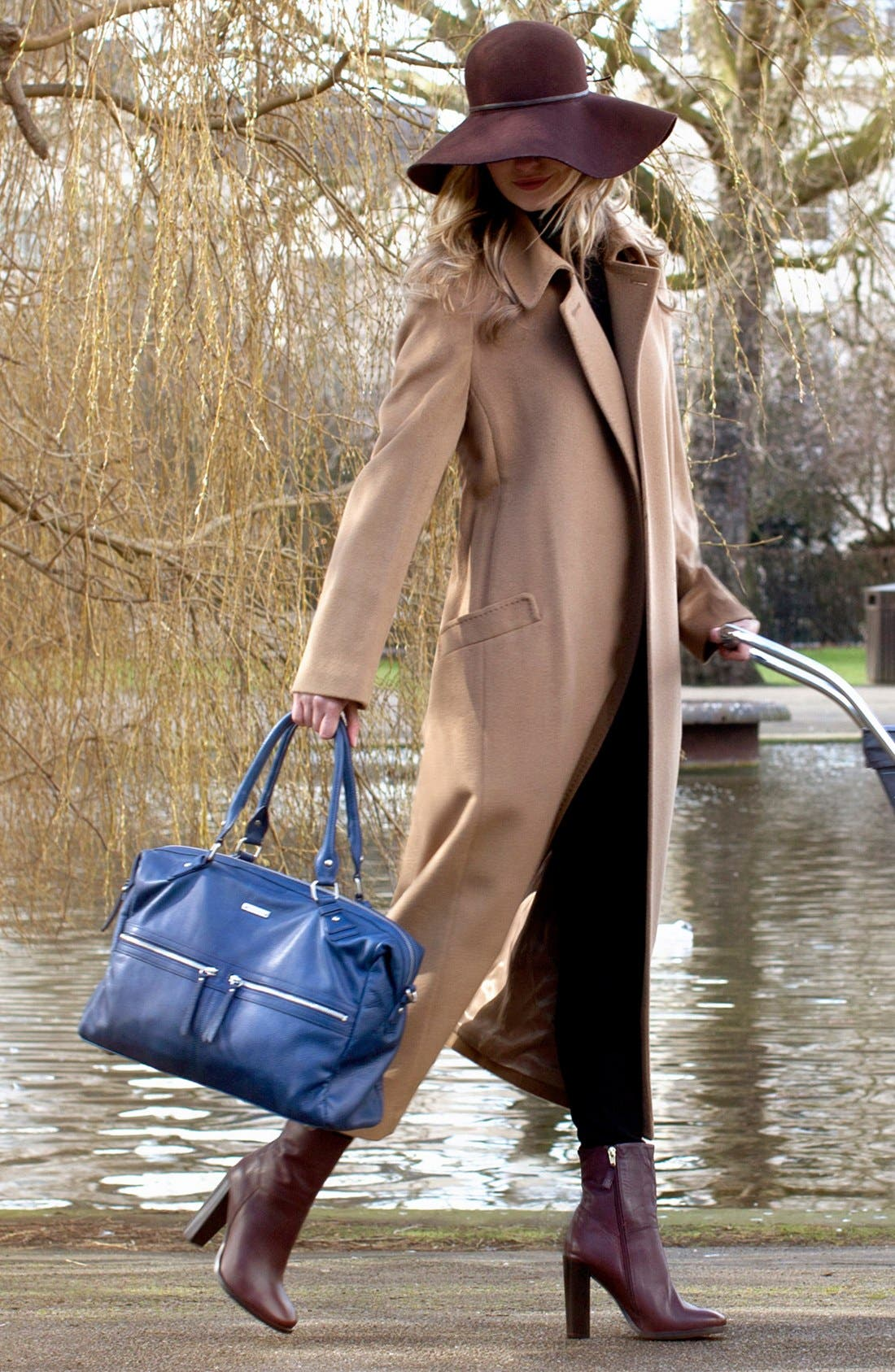 Alternate Image 2  - Storksak 'Caroline' Leather Diaper Bag