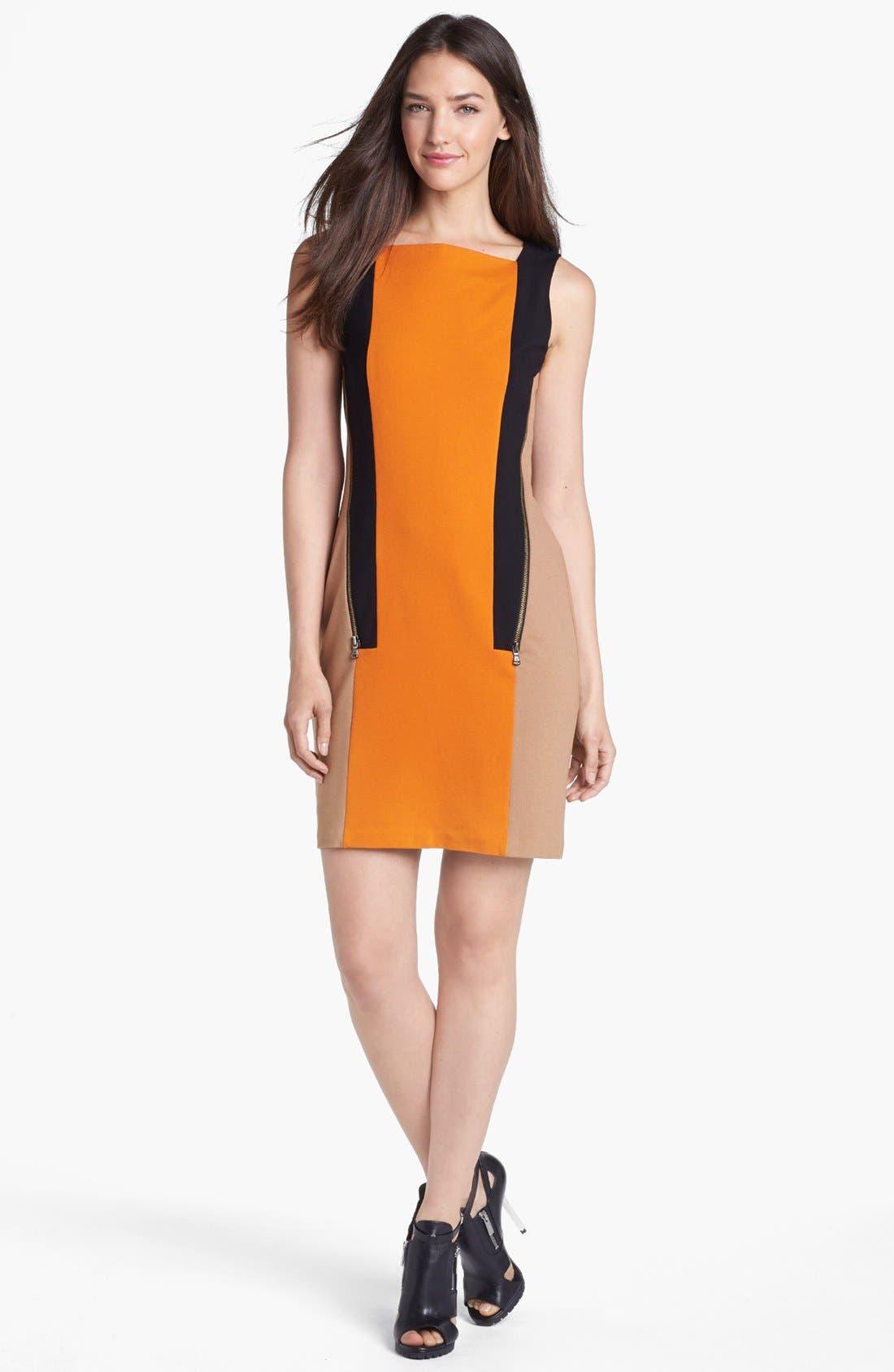 Main Image - Kenneth Cole New York 'Hulda' Zip Colorblock Dress