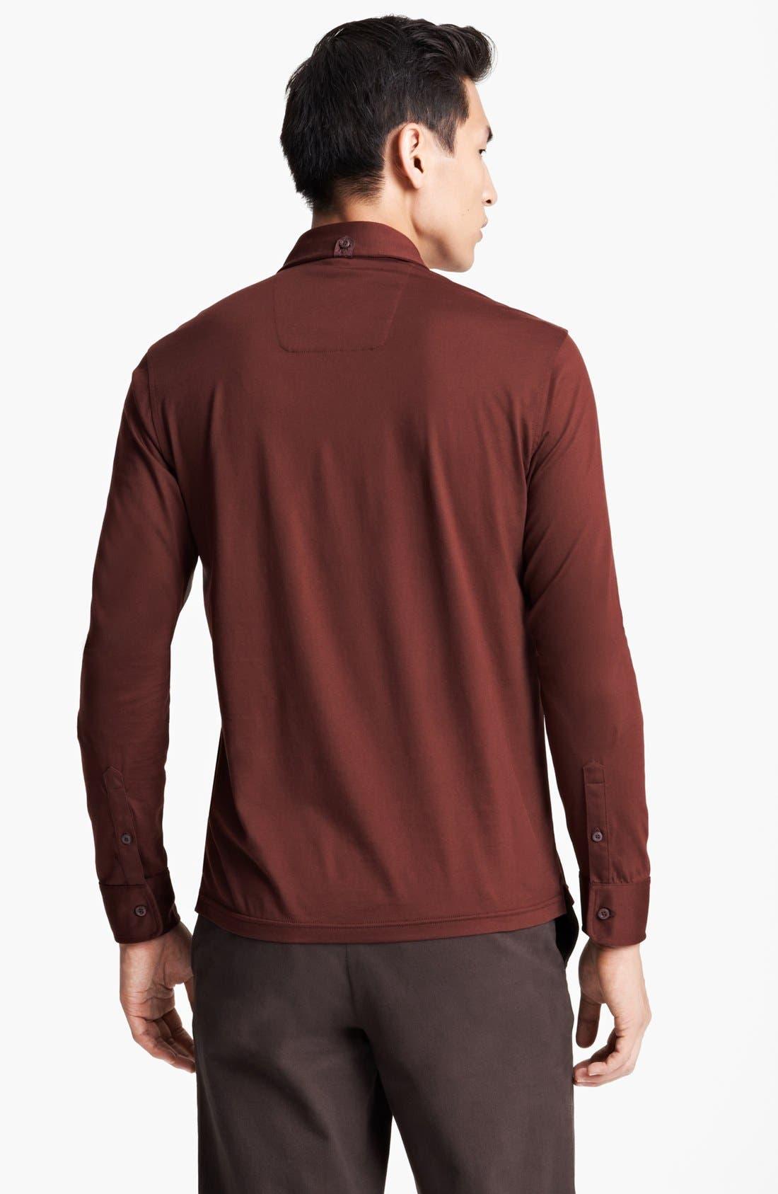 Alternate Image 2  - Zegna Sport 'Ice' Long Sleeve Polo