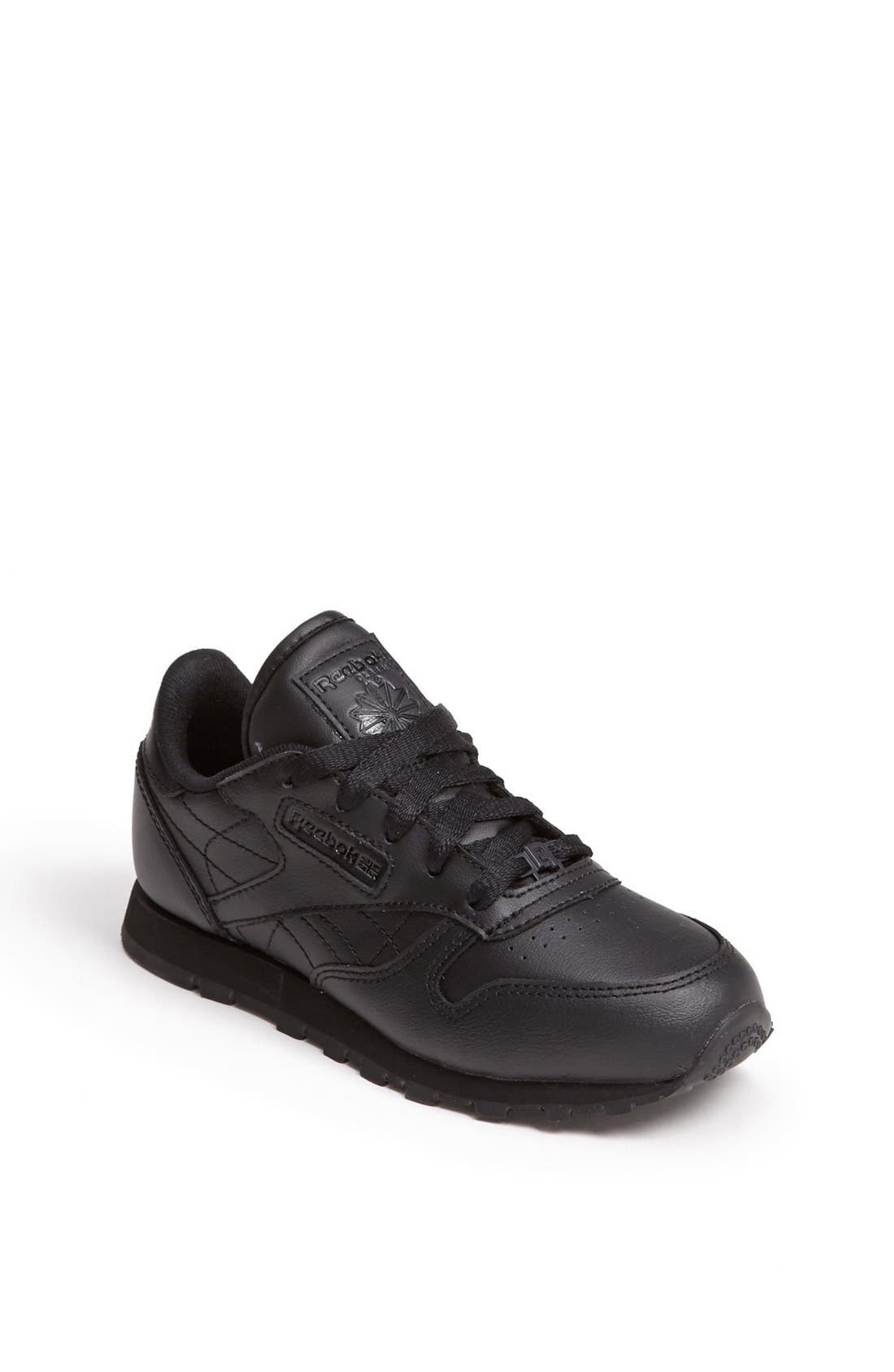 Alternate Image 1 Selected - Reebok 'Classic' Leather Sneaker (Toddler & Little Kid)