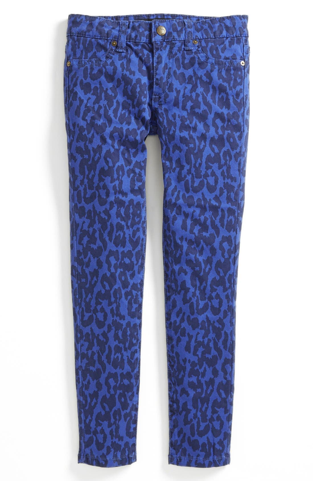 Alternate Image 2  - Joe's Leopard Print Skinny Jeans (Big Girls)
