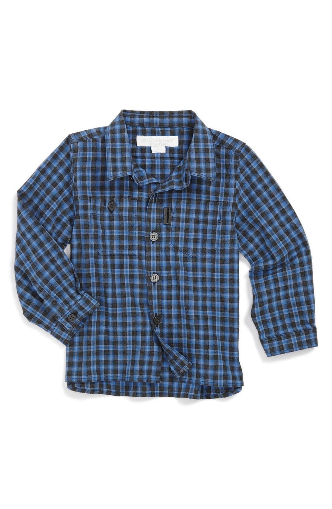 Alternate Image 1 Selected - Burberry Dress Shirt (Baby Boys)
