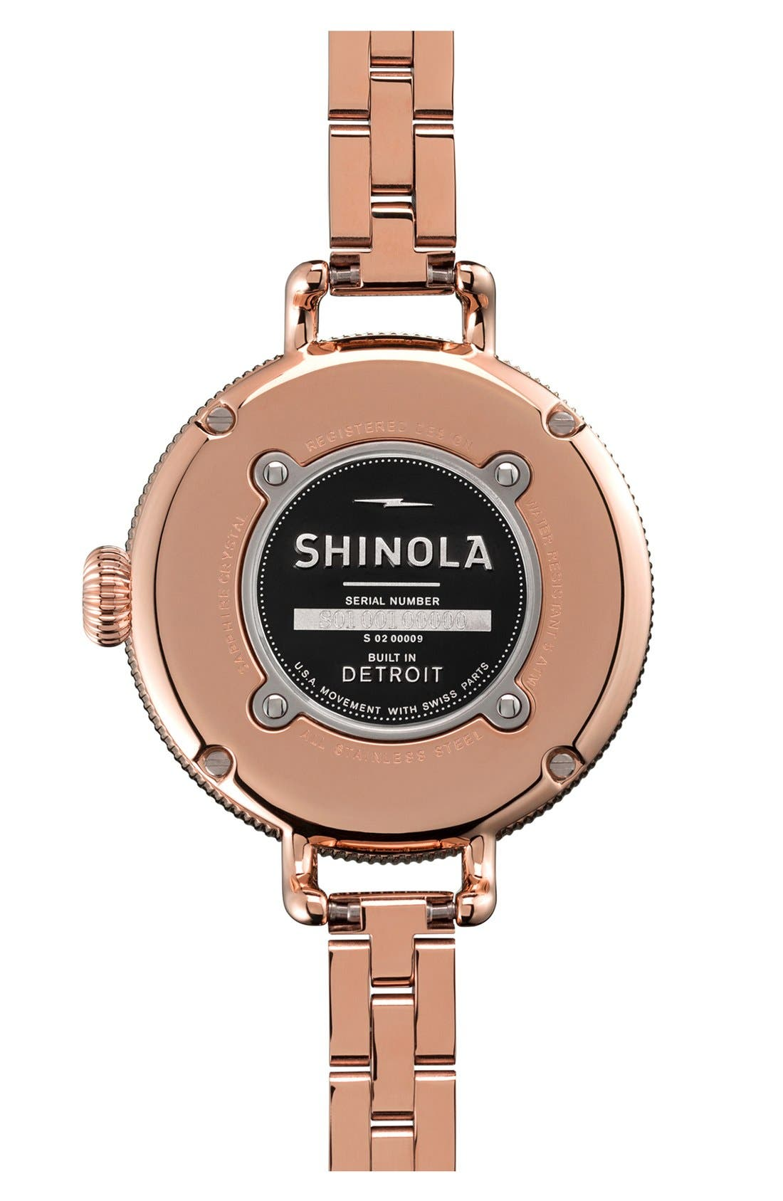 Alternate Image 2  - Shinola 'The Birdy' Bracelet Watch, 34mm