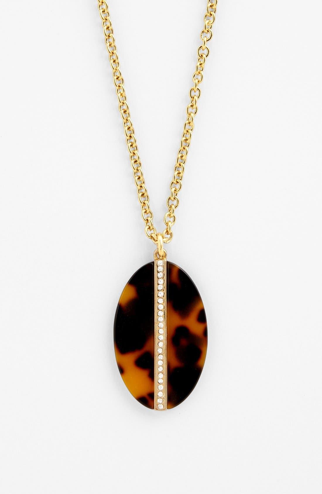 Alternate Image 2  - Lauren Ralph Lauren Oval Pendant Necklace