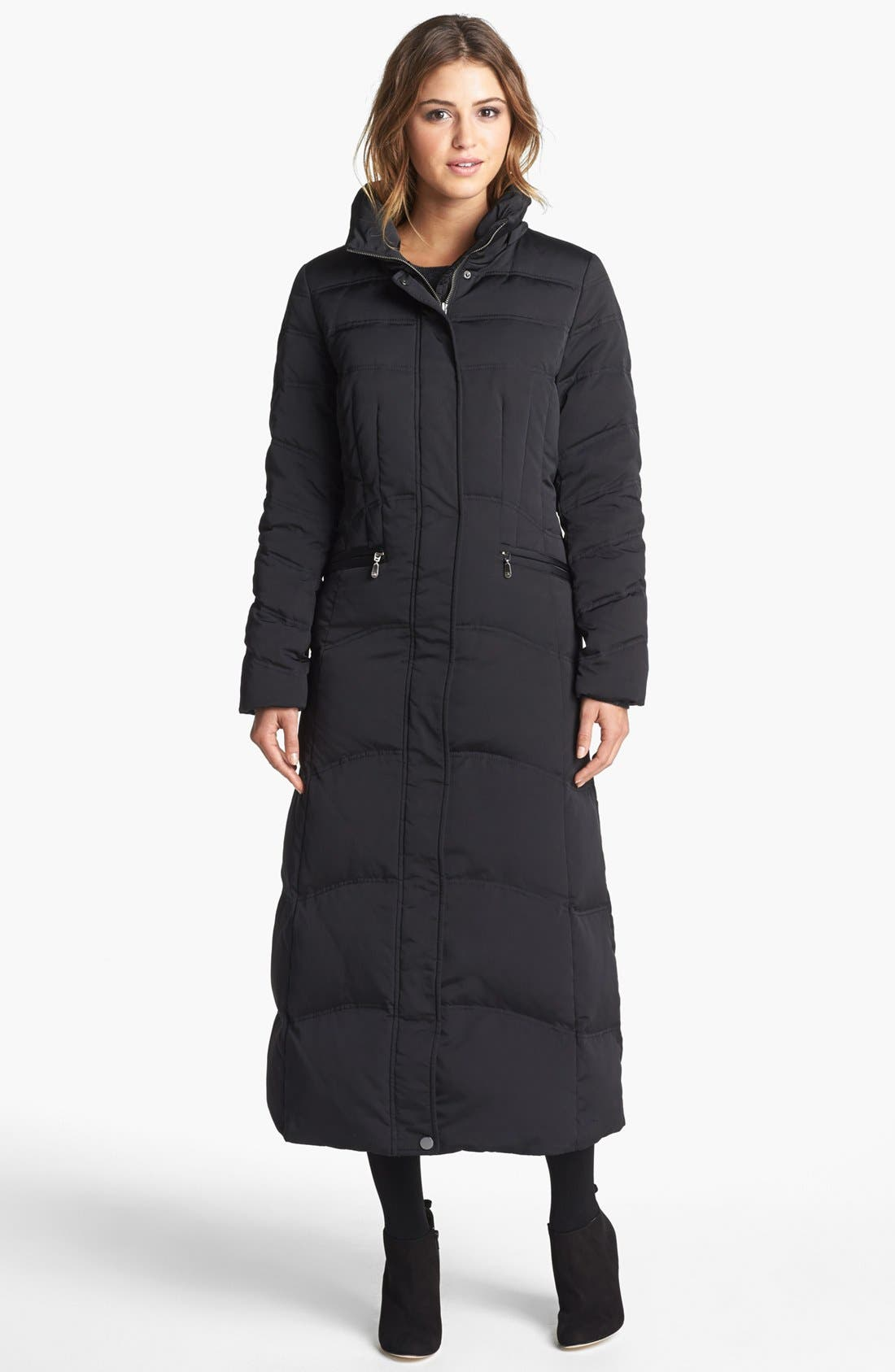 Alternate Image 4  - 1 Madison Genuine Fox Fur Trim Long Down & Feather Coat