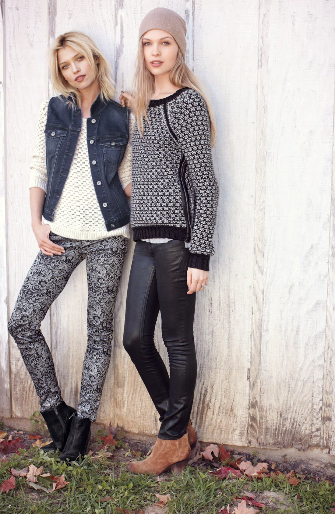 Alternate Image 6  - Two by Vince Camuto Side Zip Honeycomb Knit Sweater