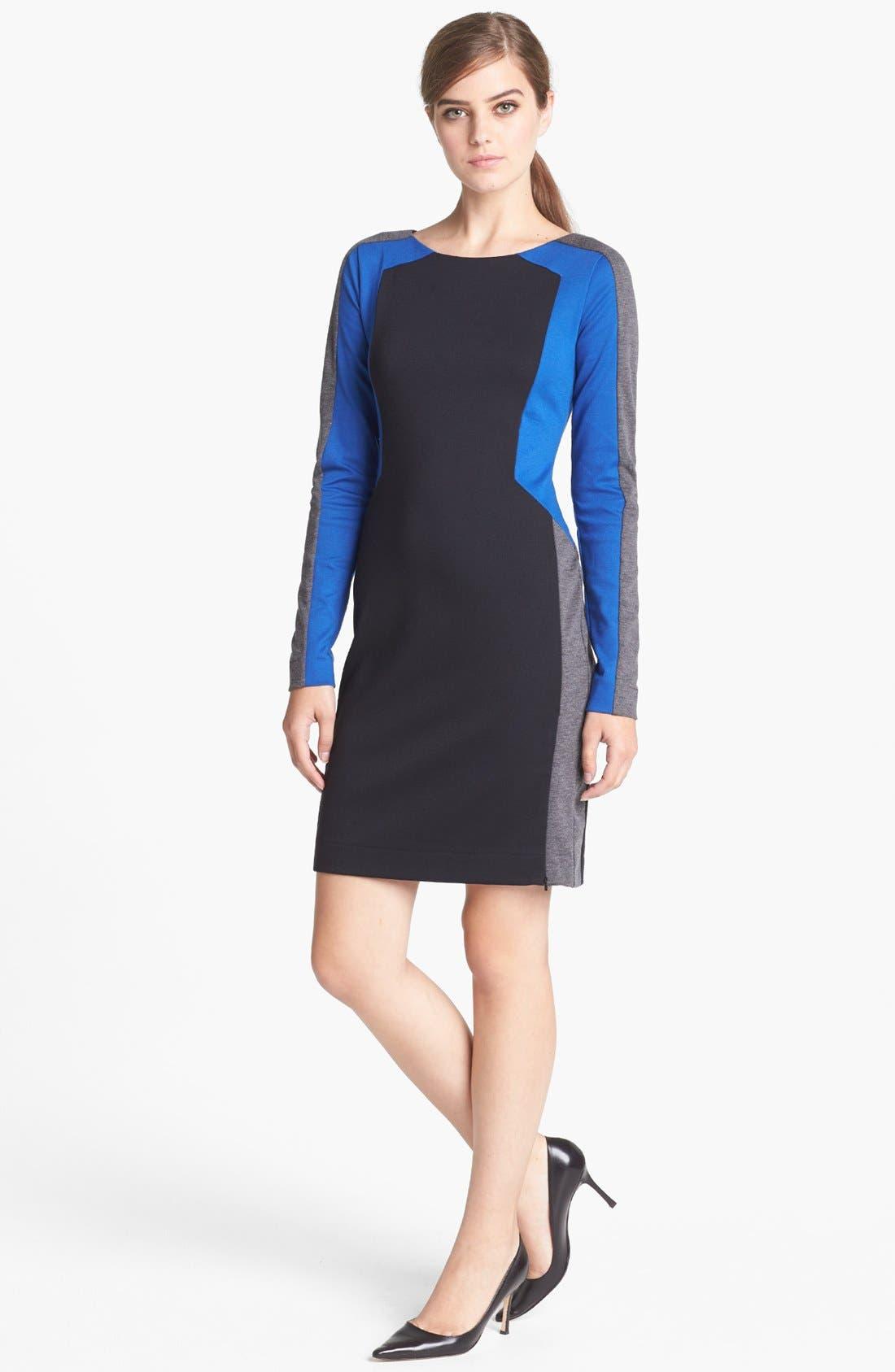 Main Image - Trouvé Colorblock Sheath Dress