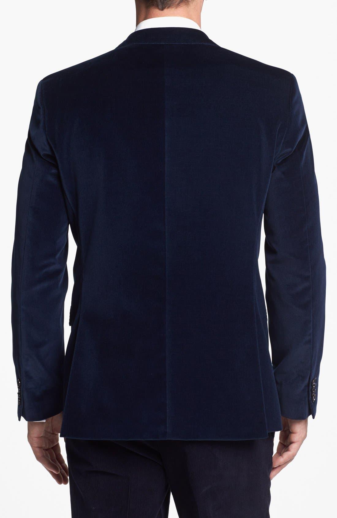 Alternate Image 3  - BOSS HUGO BOSS 'The Keys' Trim Fit Velvet Blazer