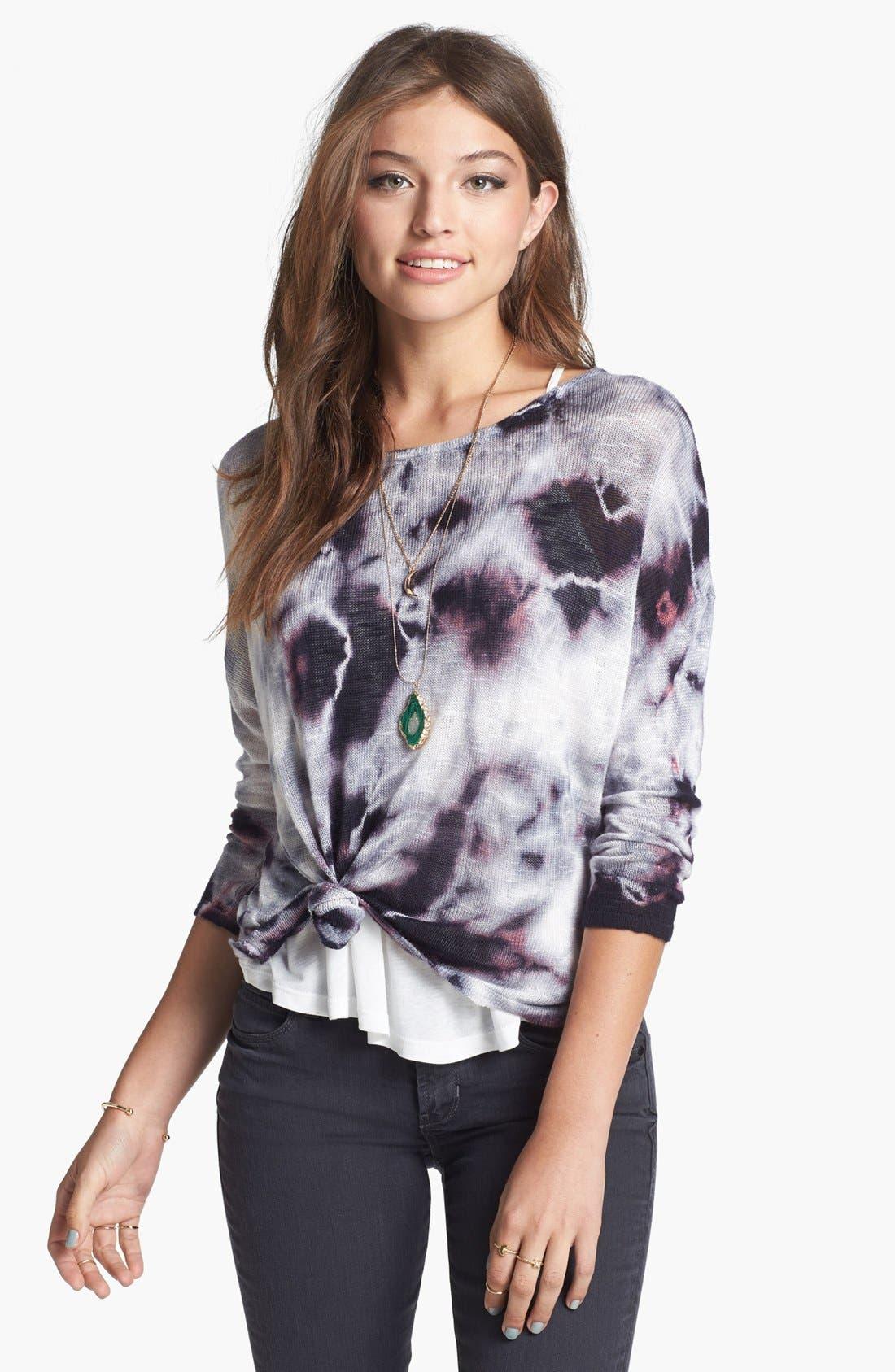Alternate Image 1 Selected - Truehitt Tie Dye Crop Sweater (Juniors)