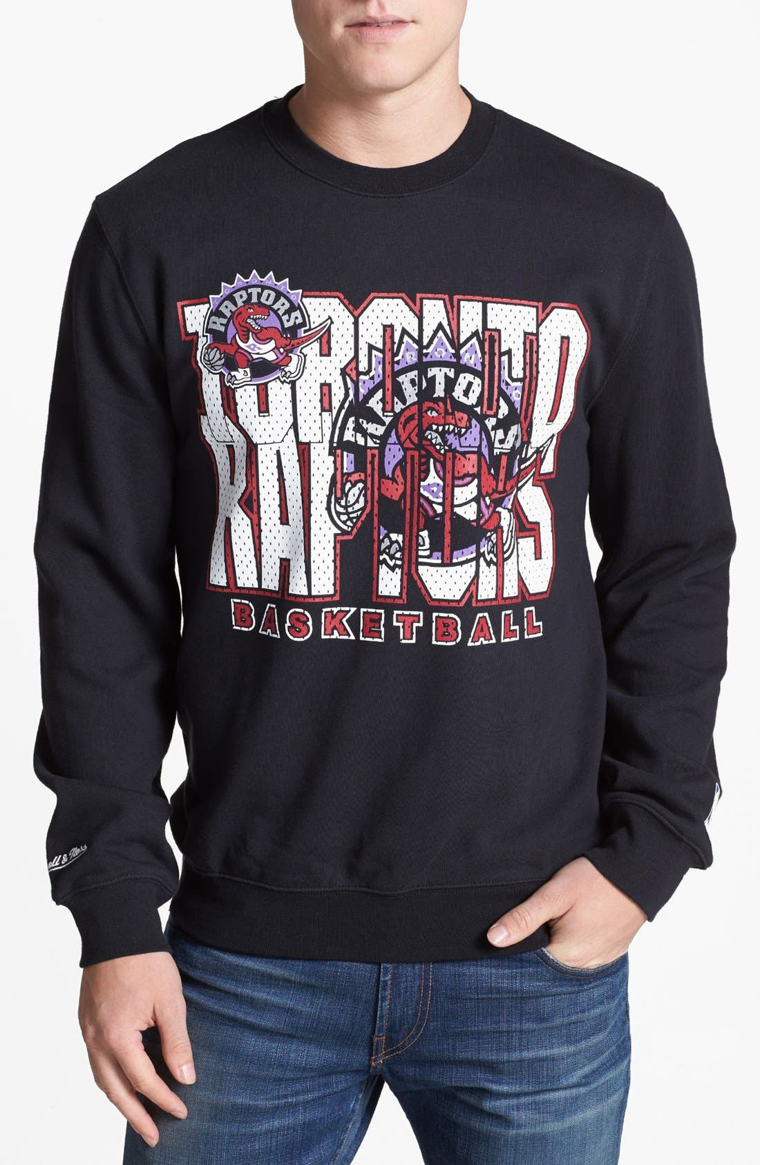 Alternate Image 1 Selected - Mitchell & Ness 'Toronto Raptors' Sweatshirt