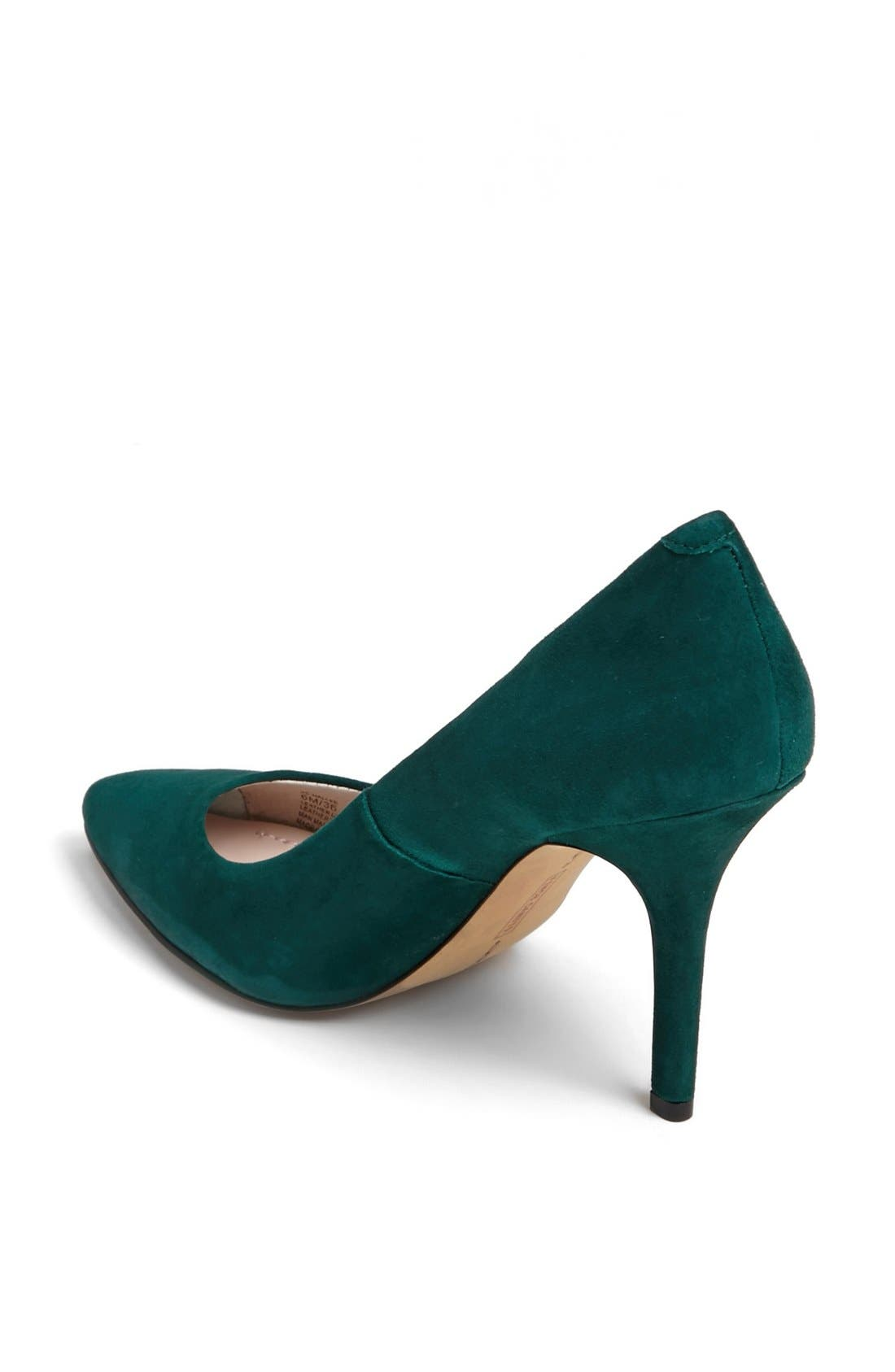 'Hallee' Pump,                             Alternate thumbnail 2, color,                             Hunter Green Suede