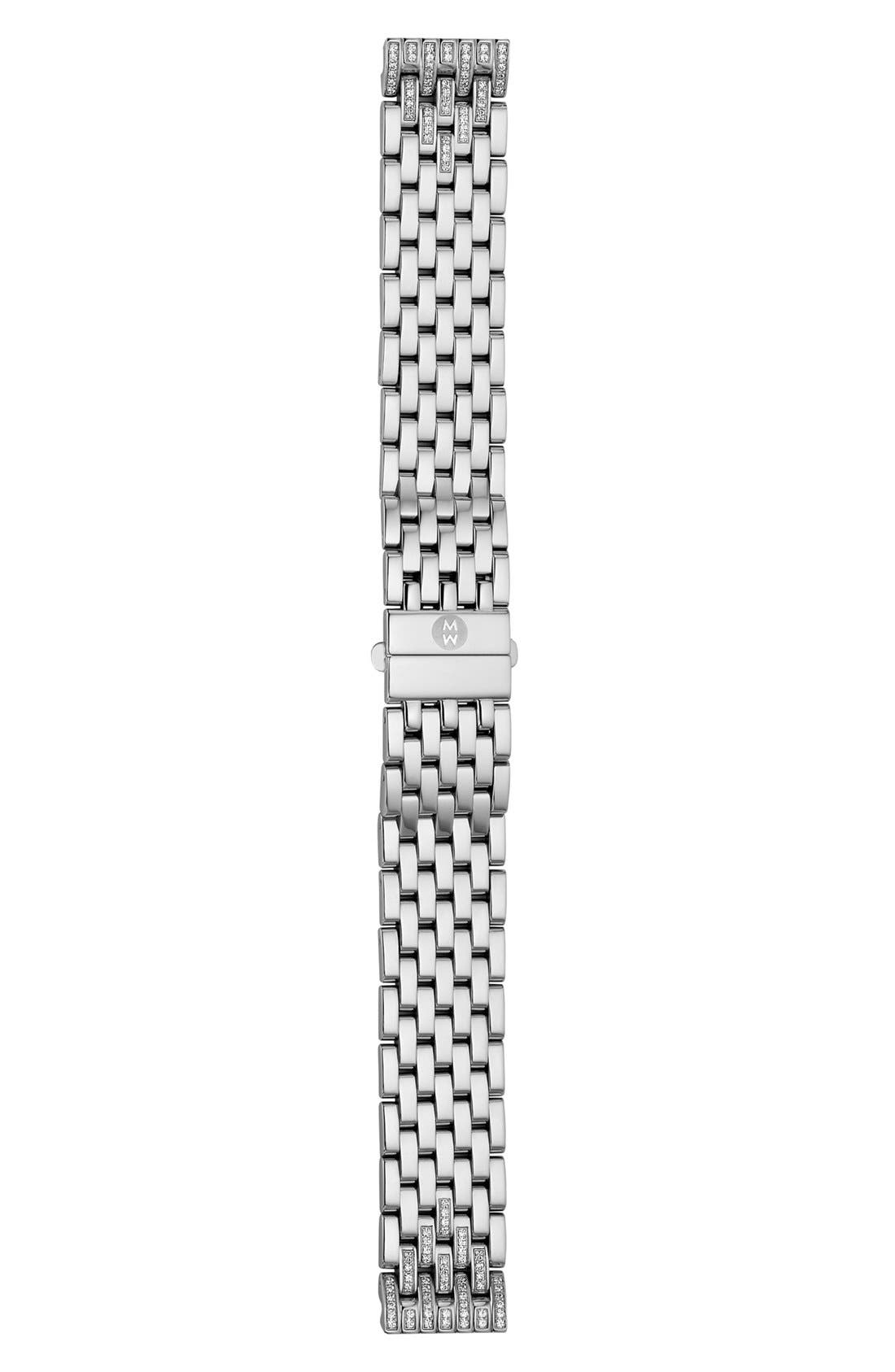 Alternate Image 1 Selected - MICHELE Deco 16 16mm Diamond Bracelet Watchband