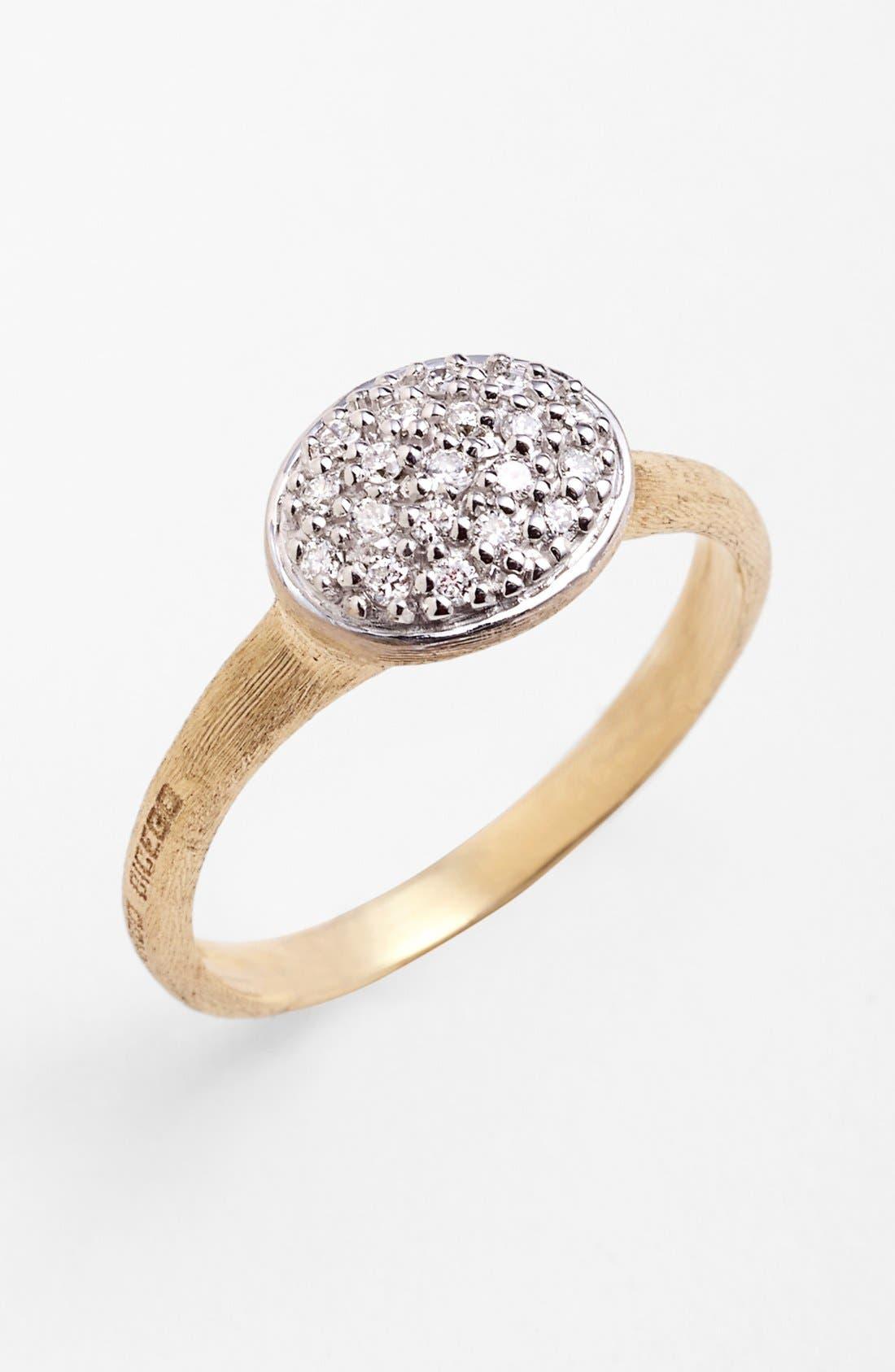 'Siviglia' Small Diamond Cocktail Ring,                         Main,                         color, Yellow Gold