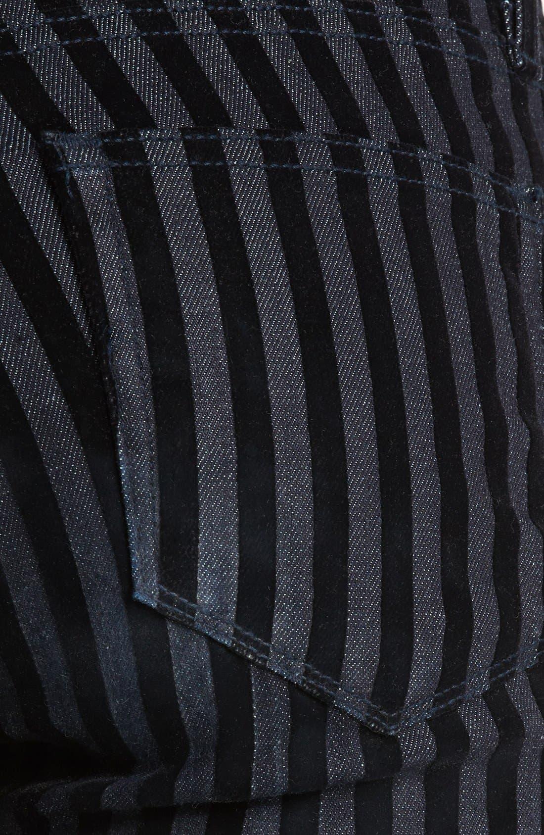 Alternate Image 3  - Paige Denim Flocked Skinny Jeans (Flocked Stripe)