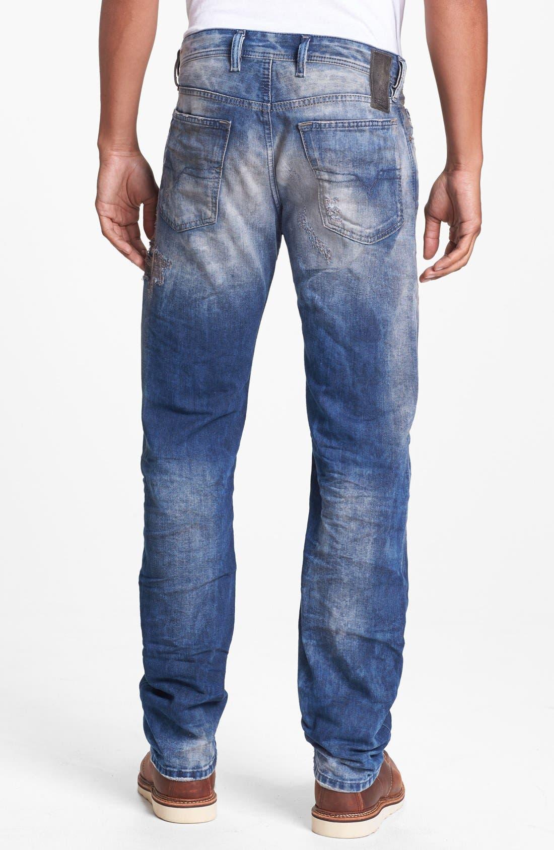 Alternate Image 1 Selected - DIESEL® 'Waykee' Straight Leg Selvedge Jeans (0603Z)