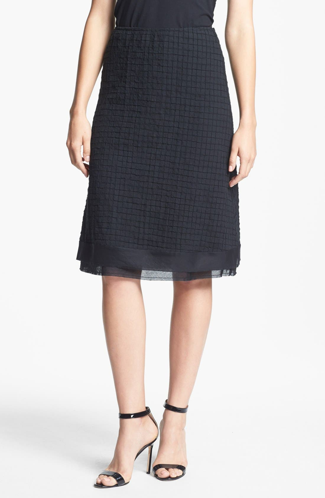 Alternate Image 1 Selected - Eileen Fisher A-Line Skirt (Regular & Petite)