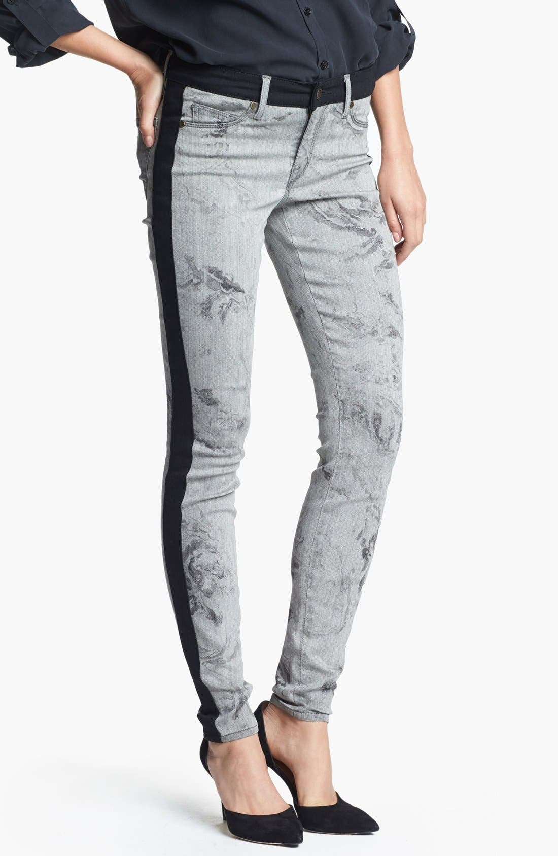 Alternate Image 1 Selected - CJ by Cookie Johnson Track Stripe Print Skinny Pants