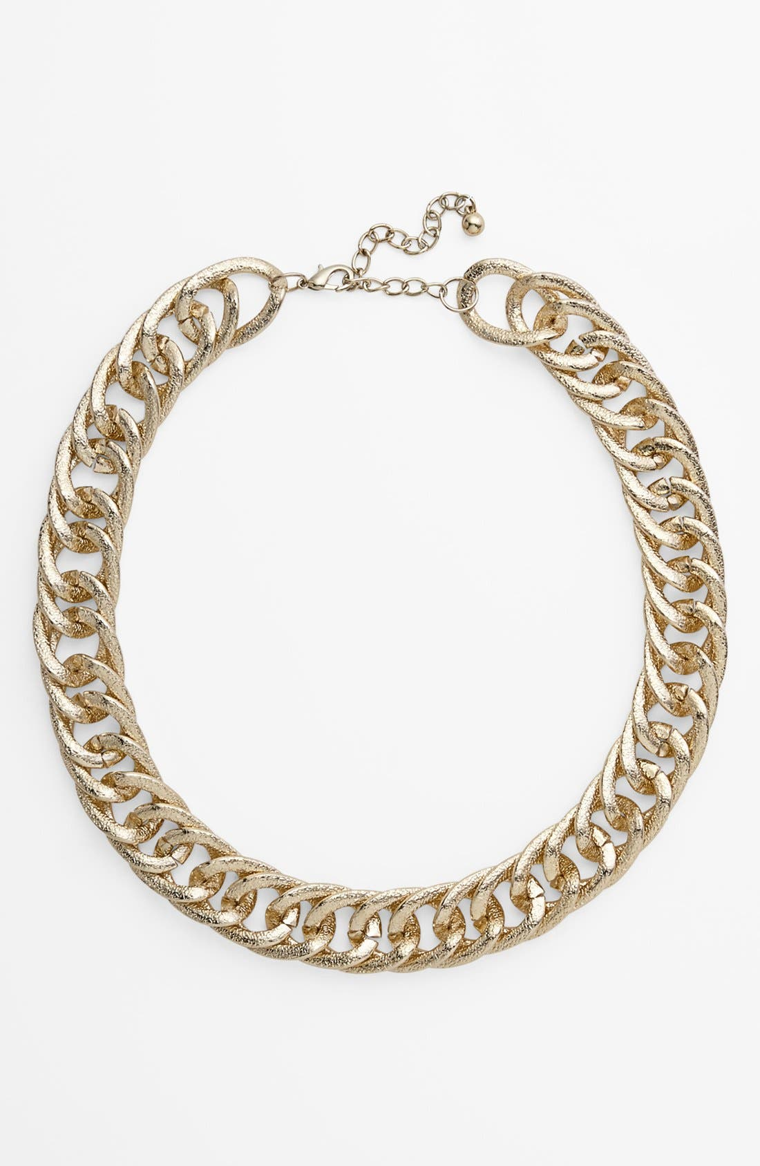 Alternate Image 1 Selected - Carole Textured Chunky Chain Necklace (Juniors) (Online Only)