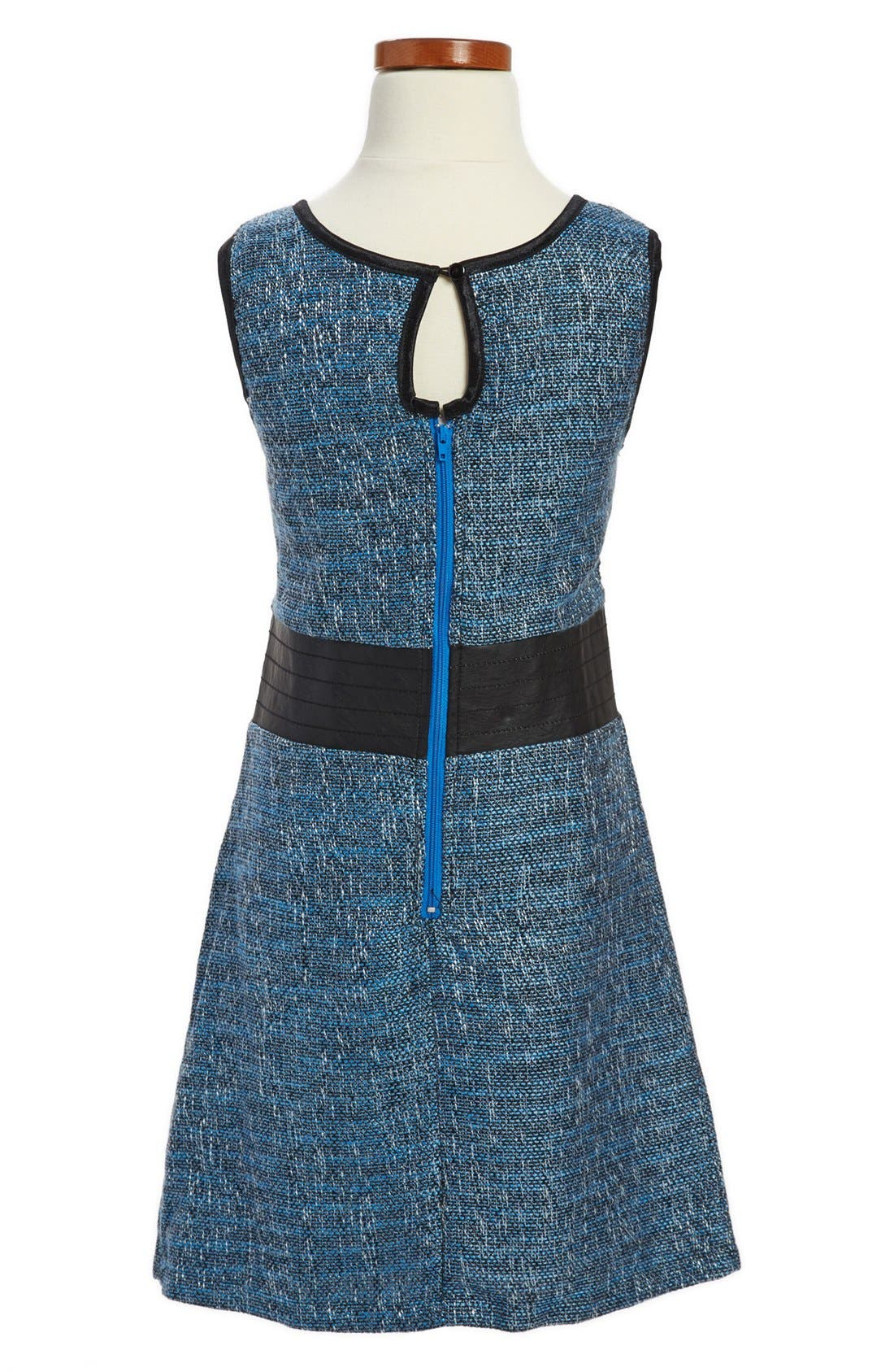 Alternate Image 2  - Laundry by Shelli Segal 'Gemma' Tweed Dress (Big Girls)