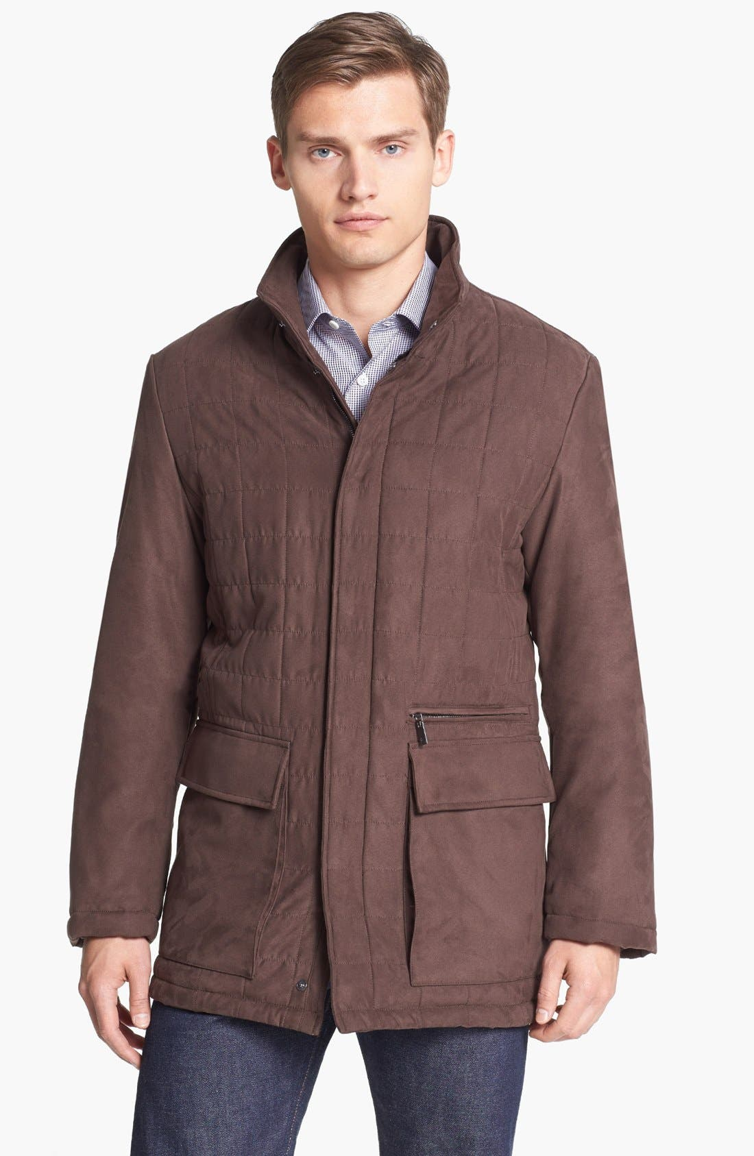 Alternate Image 1 Selected - Canali Water Resistant Quilted Jacket