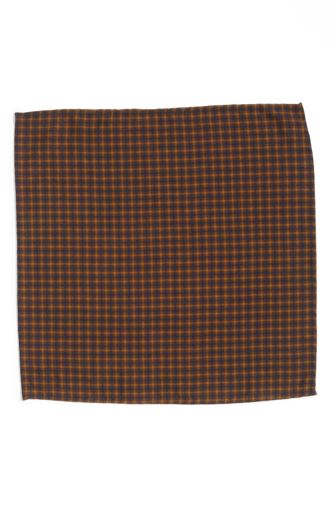 Alternate Image 2  - Gitman Plaid Silk Pocket Square