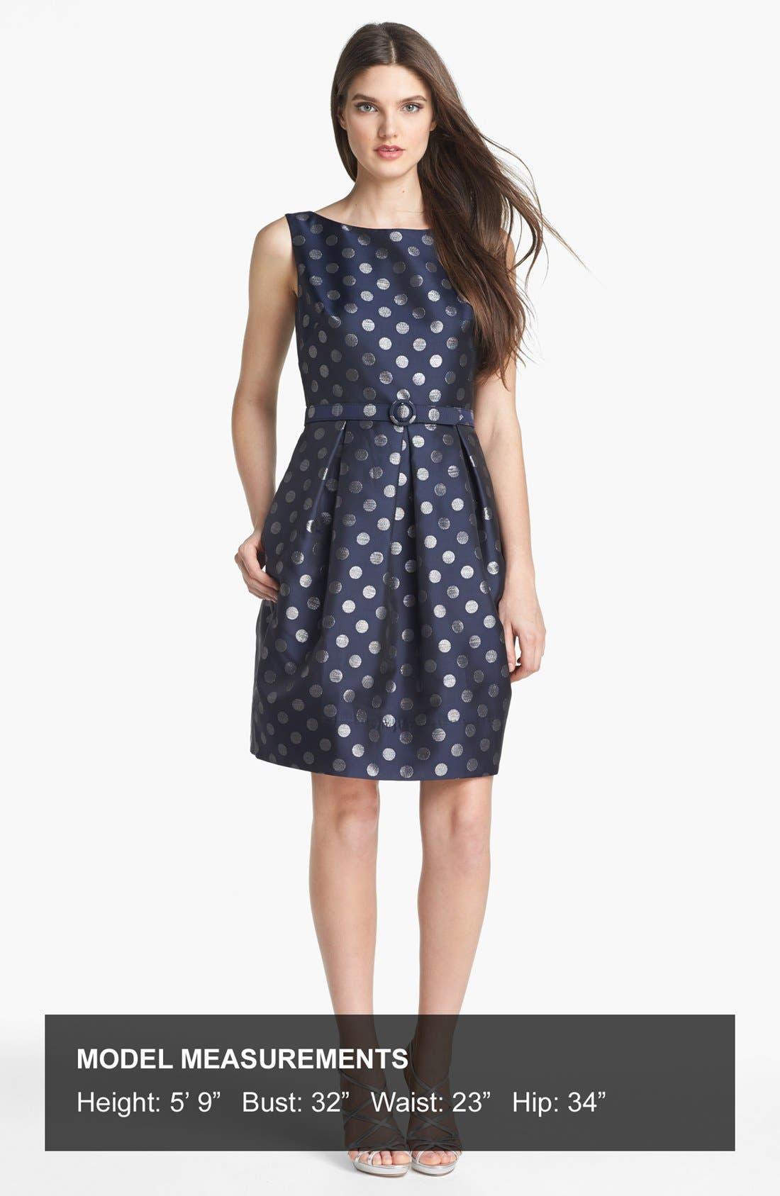Alternate Image 4  - Eliza J Metallic Polka Dot Fit & Flare Dress