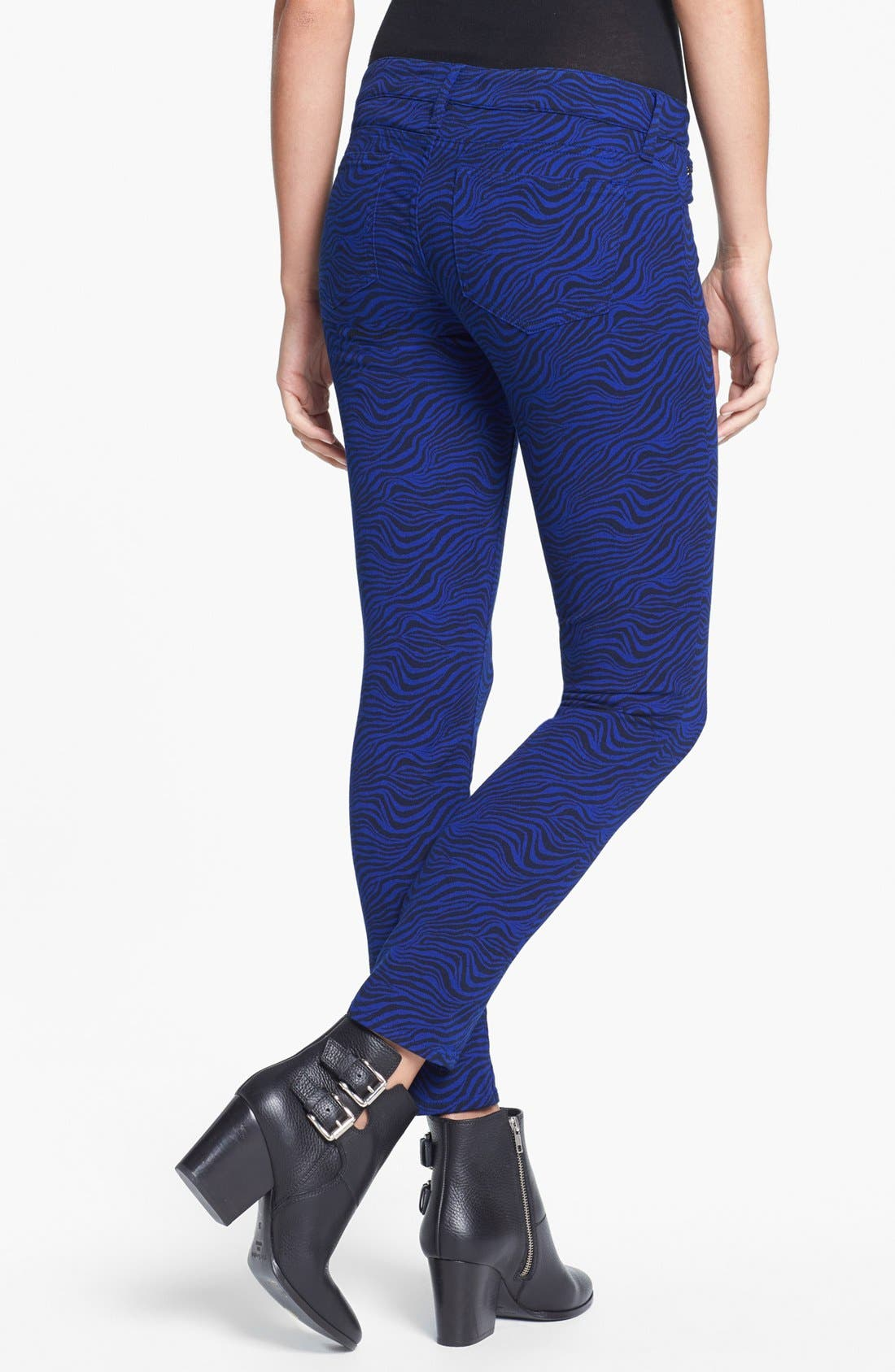 Alternate Image 2  - The Kooples Zebra Print Stretch Skinny Jeans
