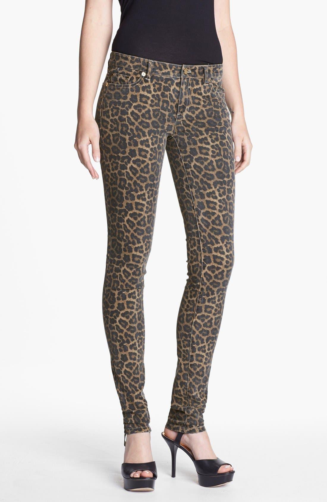 Main Image - MICHAEL Michael Kors Jaguar Spot Skinny Jeans