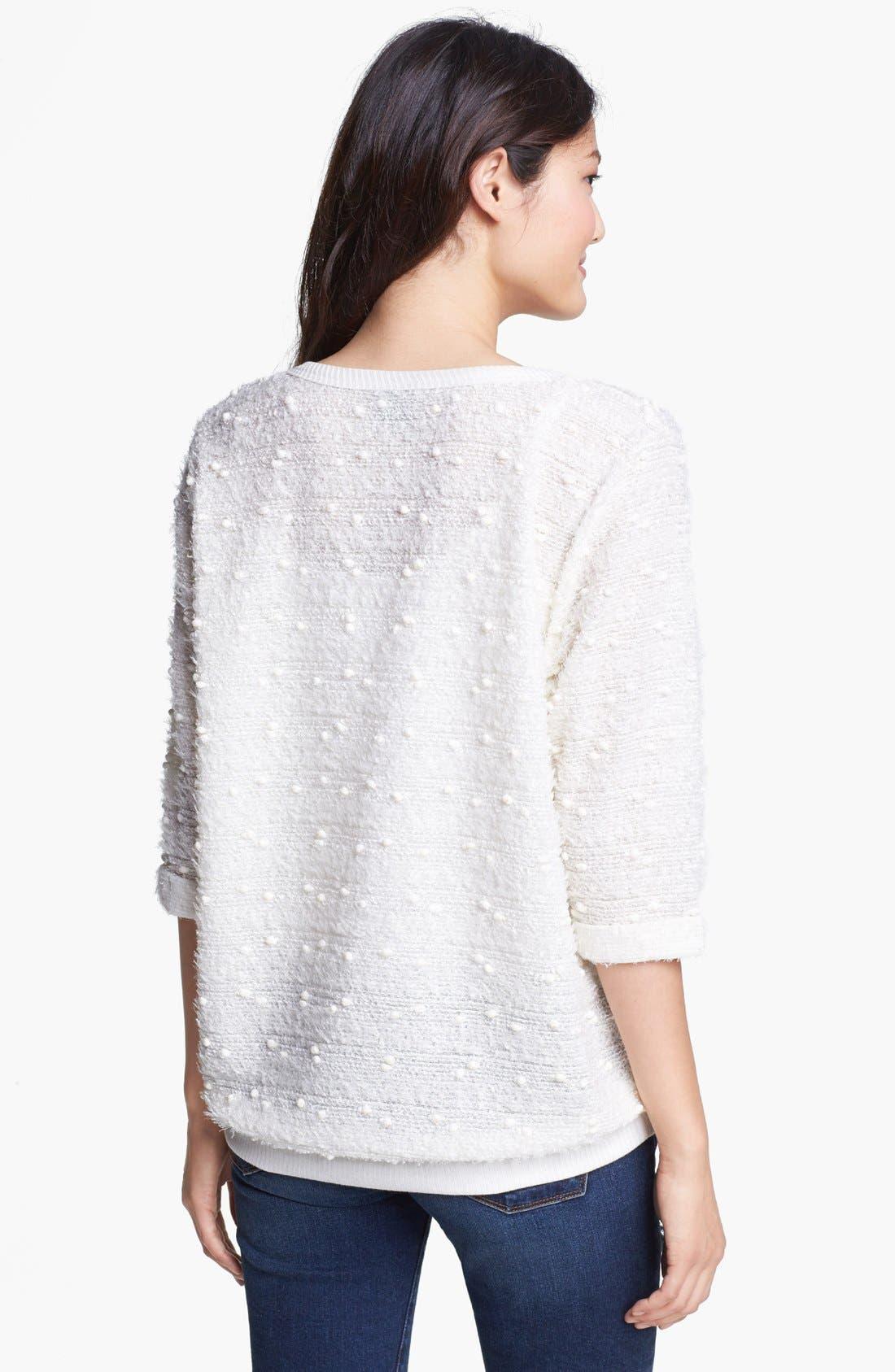 Alternate Image 2  - Bobeau Textured Knit Sweater