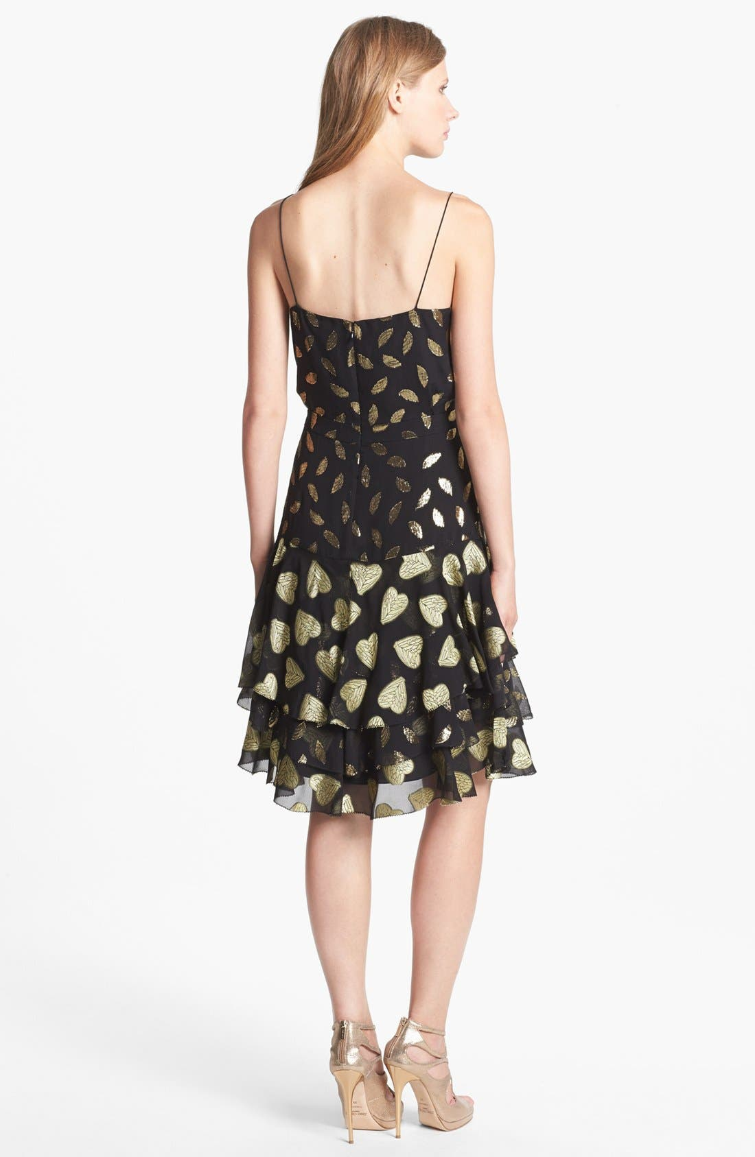 Alternate Image 2  - Diane von Furstenberg 'Siena' Metallic Silk Slip Dress