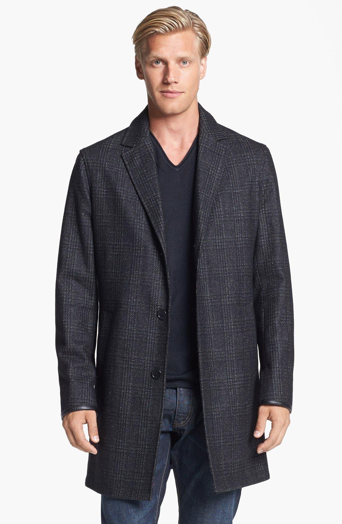 Main Image - John Varvatos Star USA Wool Topcoat