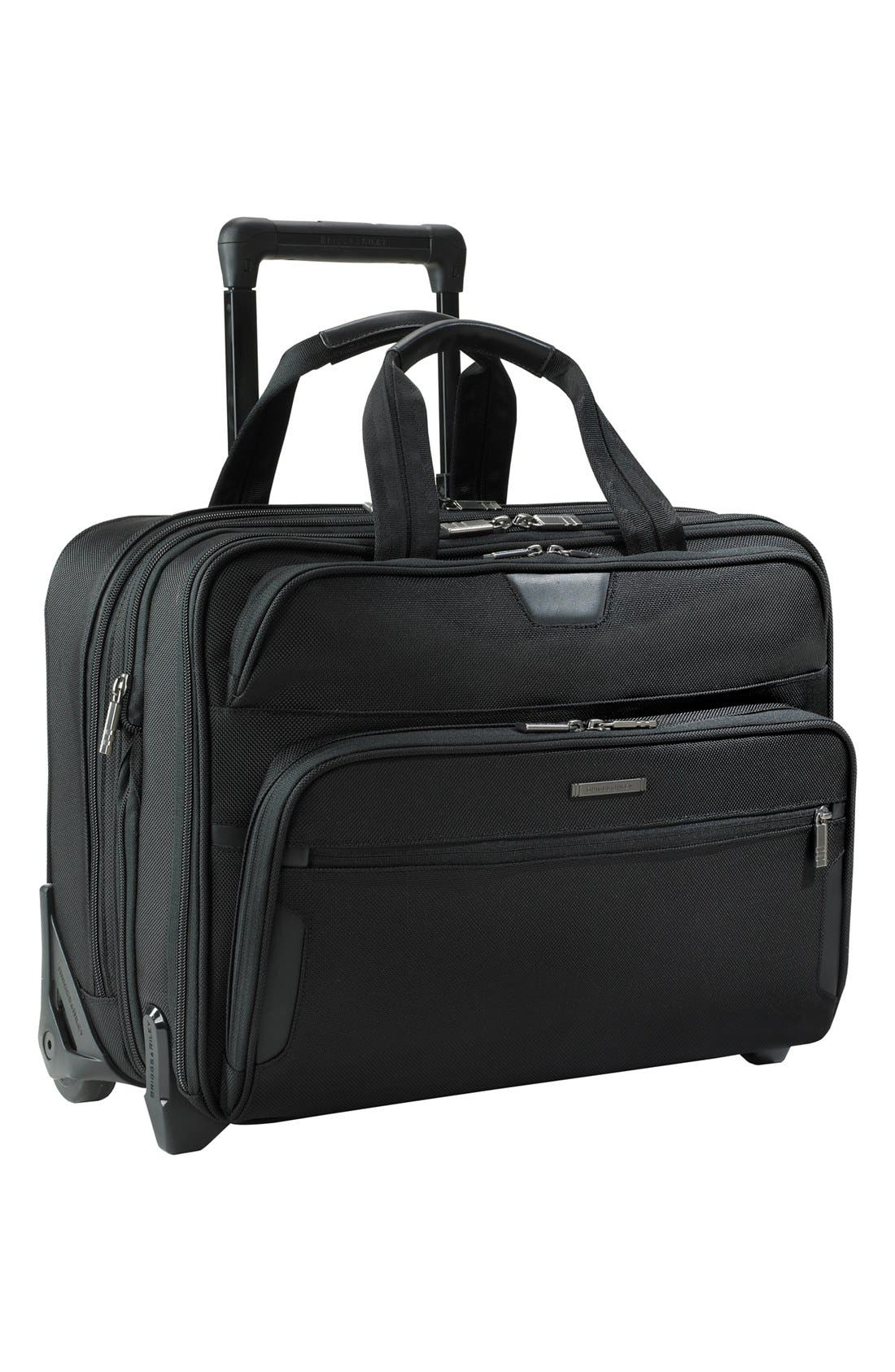 BRIGGS & RILEY Large Expandable Rolling Ballistic Nylon Briefcase