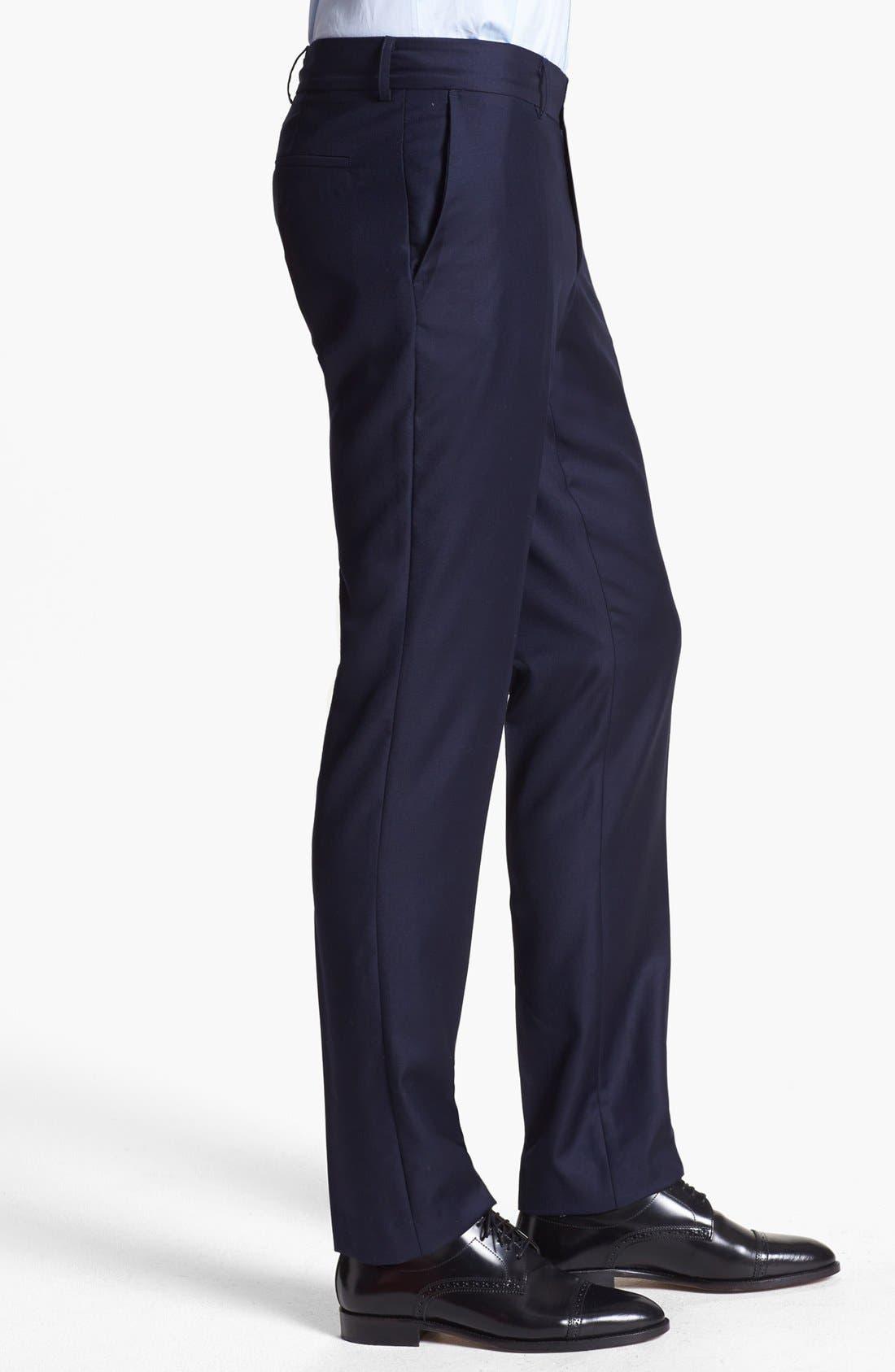 Alternate Image 3  - The Kooples Slim Fit Navy Wool Trousers