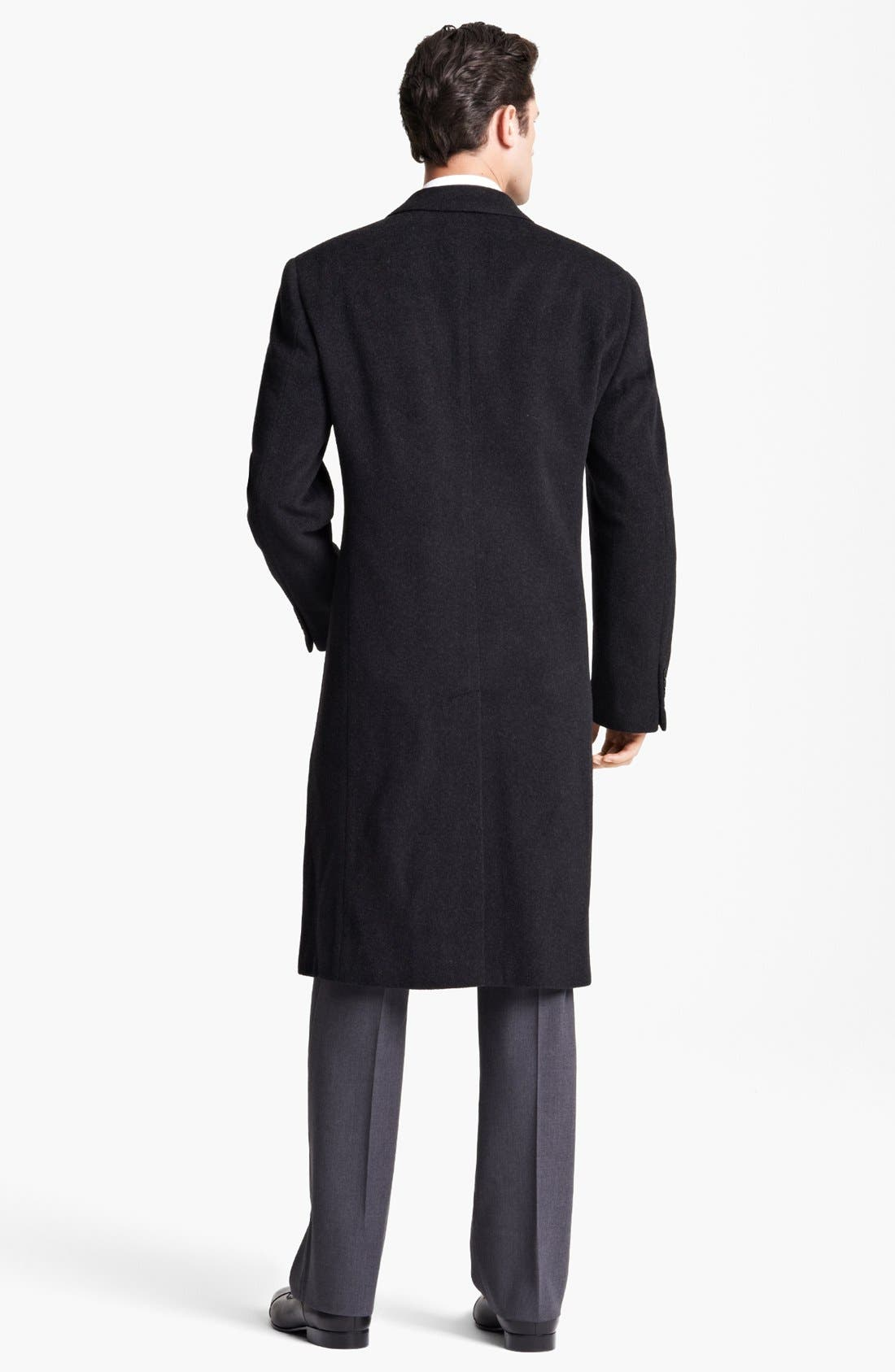 Alternate Image 2  - Armani Collezioni 'Executive' Wool Top Coat (Online Only)