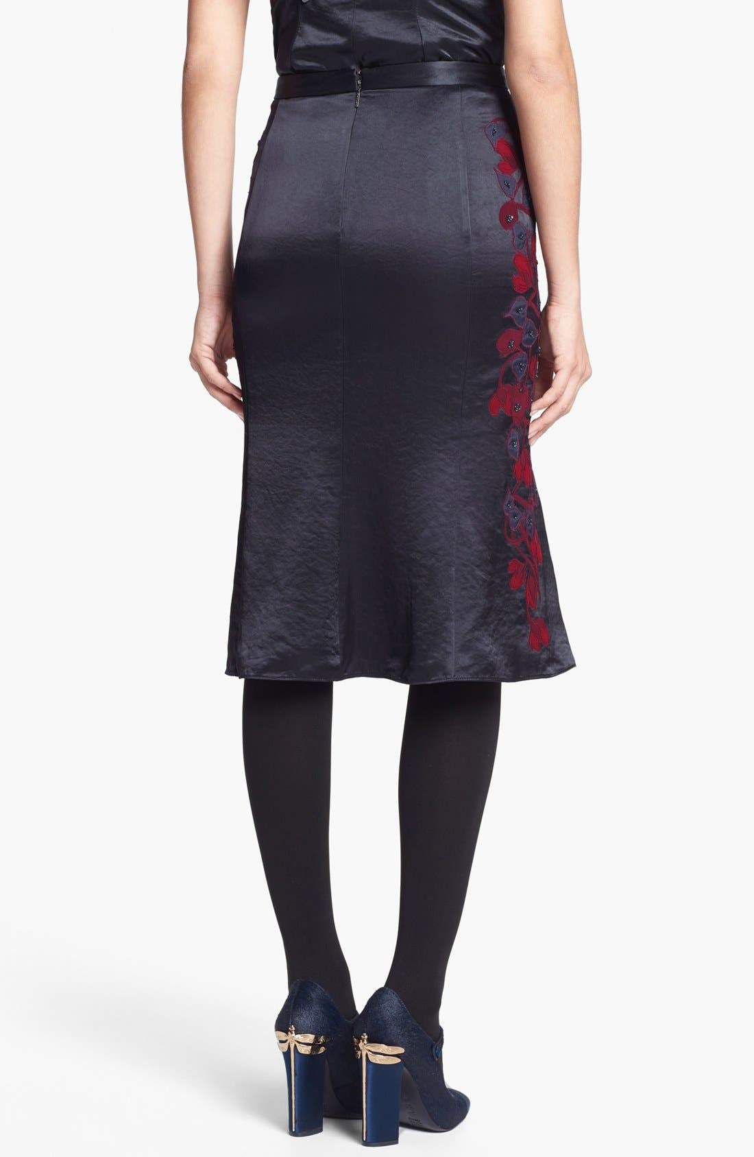 Alternate Image 2  - Tory Burch 'Uma' Embellished Midi Skirt