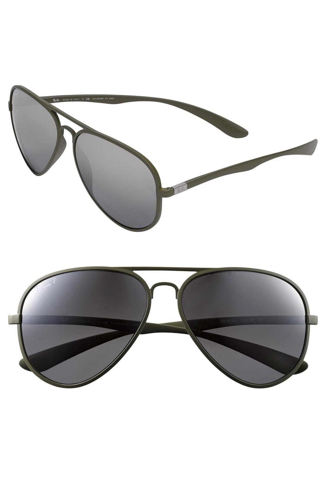 Alternate Image 1 Selected - Ray-Ban 59mm Polarized Aviator Sunglasses