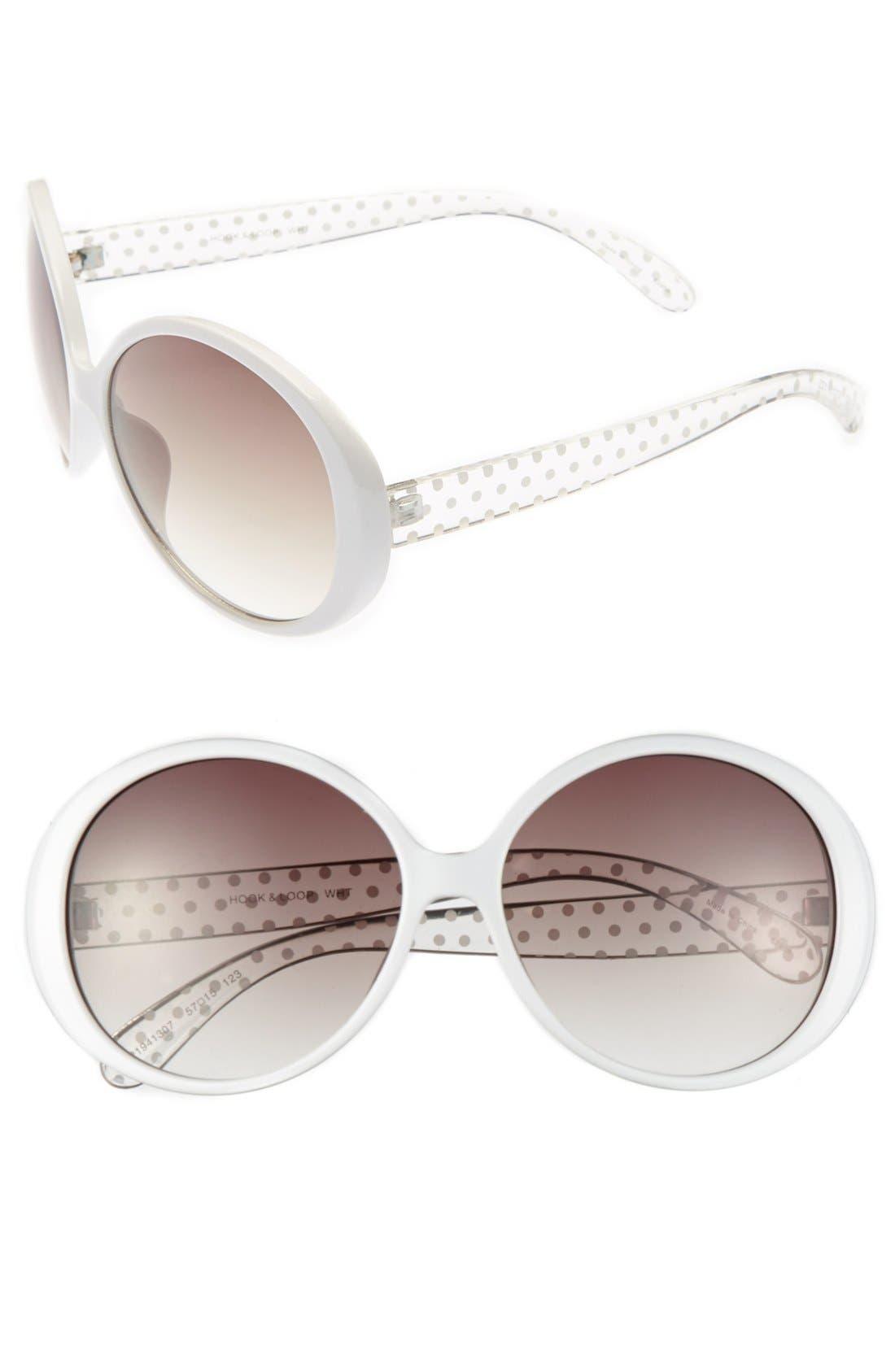 Alternate Image 1 Selected - Outlook Eyewear 'Hook & Loop' 57mm Sunglasses