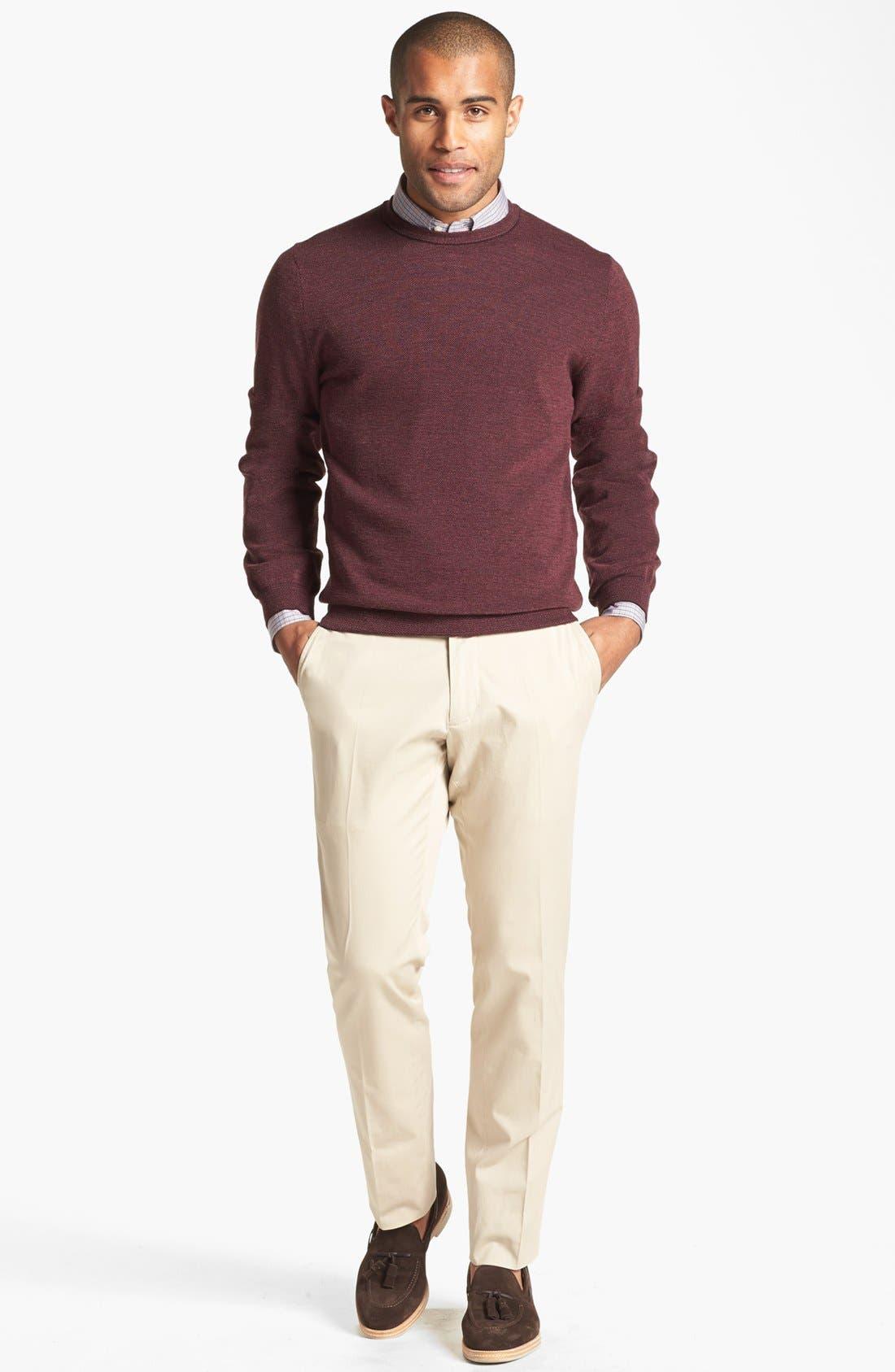 Alternate Image 4  - John W. Nordstrom® Merino Wool Crewneck Sweater