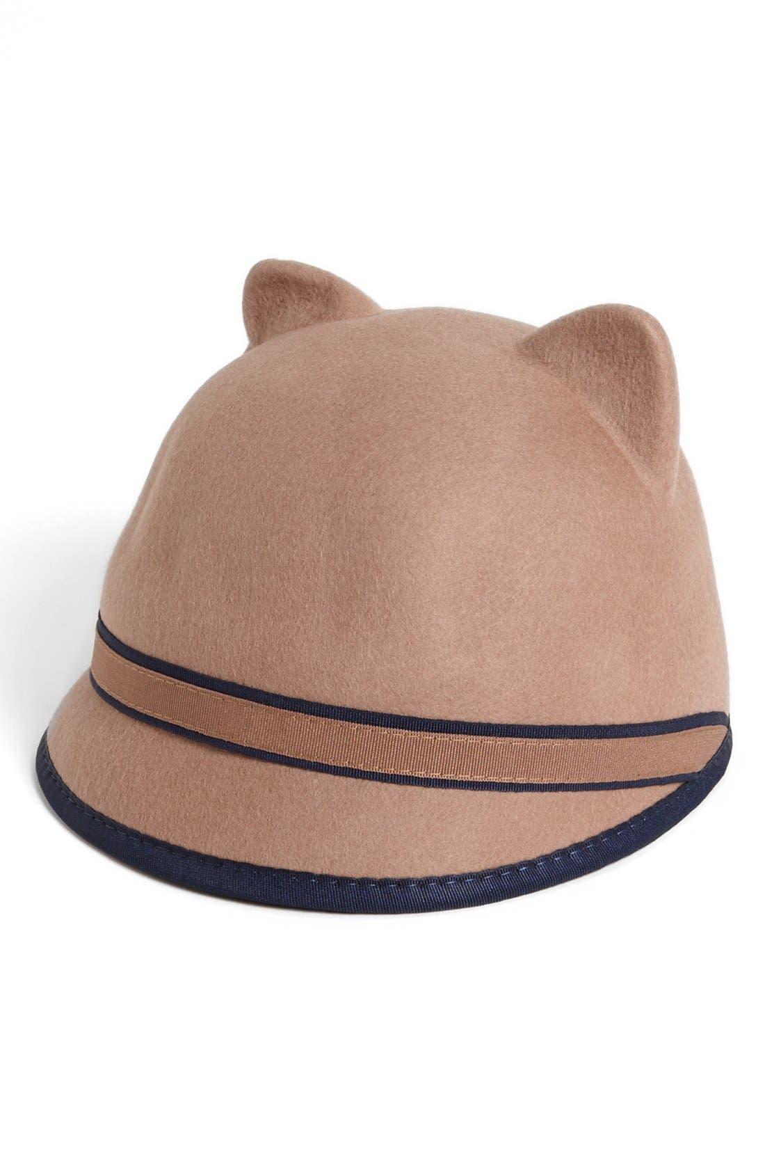 Alternate Image 1 Selected - BCBGMAXAZRIA Kitty Cat Baseball Cap