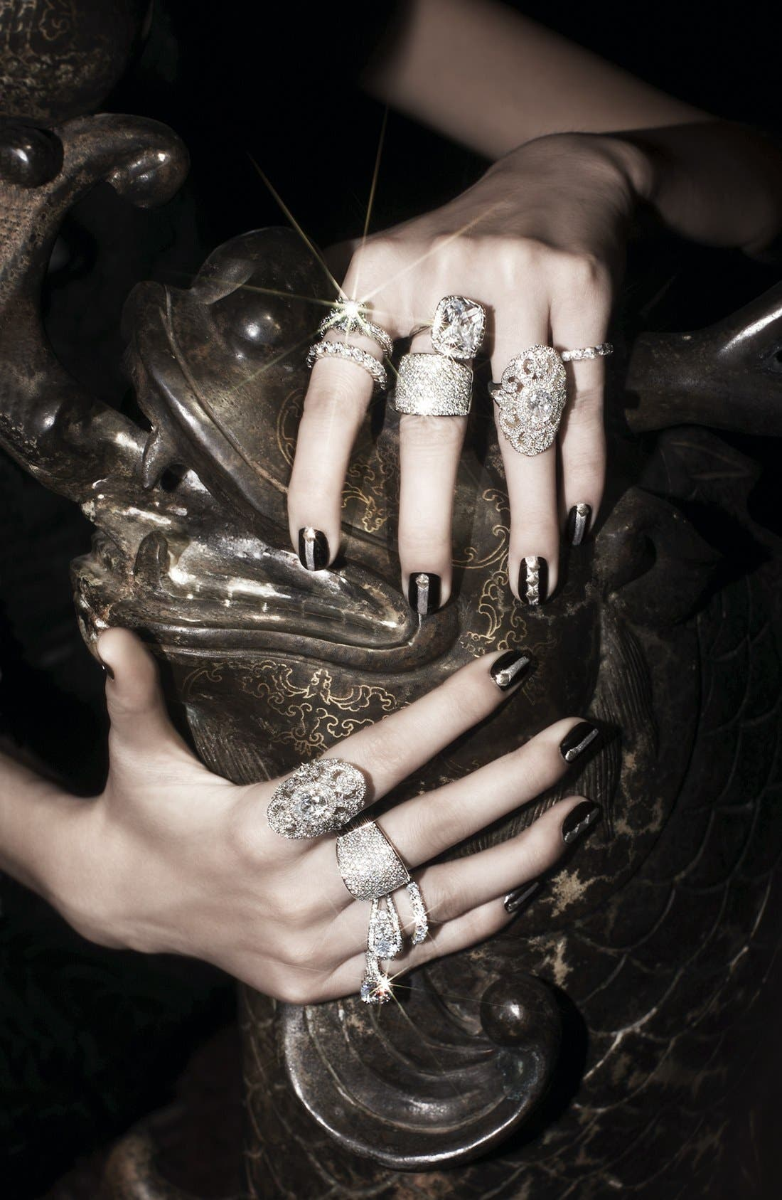 Alternate Image 3  - Ariella Collection Pavé Cocktail Ring