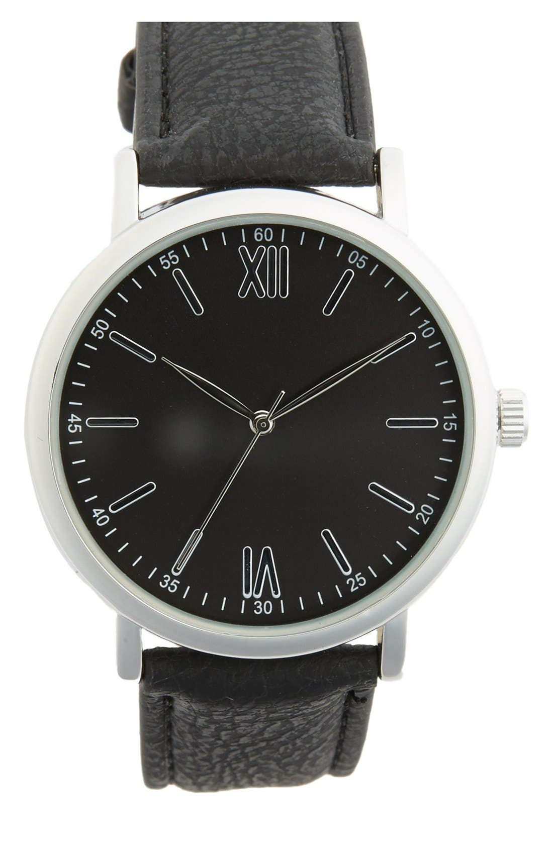Alternate Image 1 Selected - ACCUTIME Round Dial Strap Watch, 39mm
