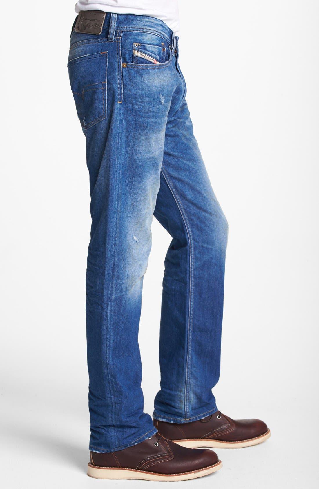 Alternate Image 3  - DIESEL® 'Waykee' Straight Leg Jeans (0823U)
