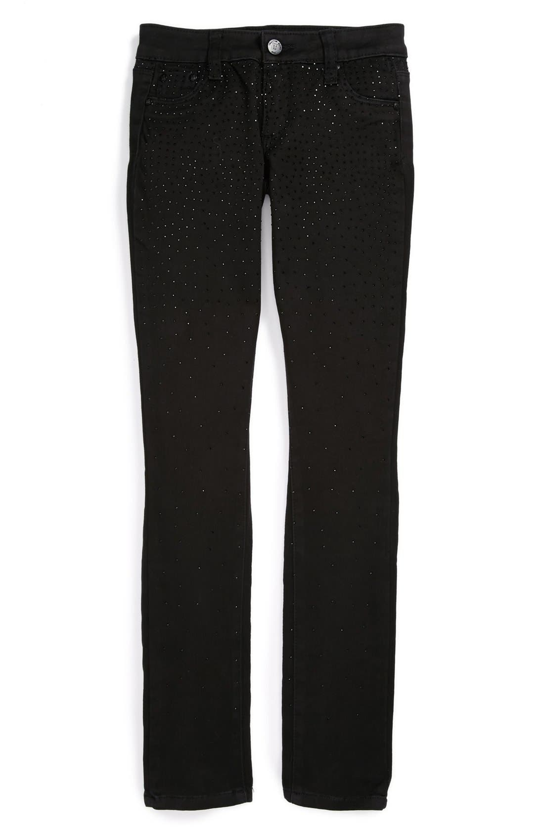 Alternate Image 1 Selected - Tractr Sparkle Skinny Jeans (Big Girls)