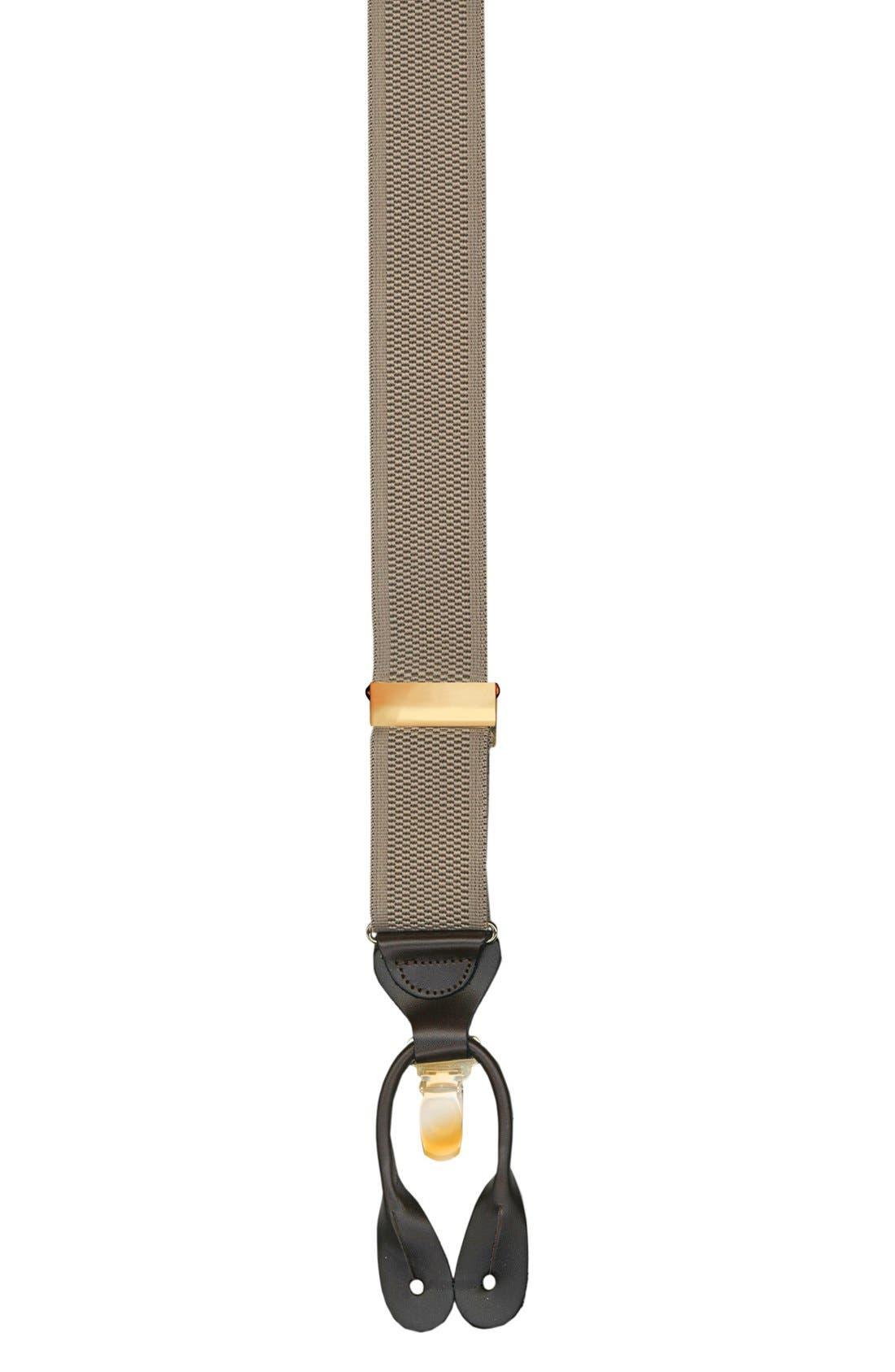 Convertible Stretch Nylon Suspenders,                             Main thumbnail 1, color,                             Khaki