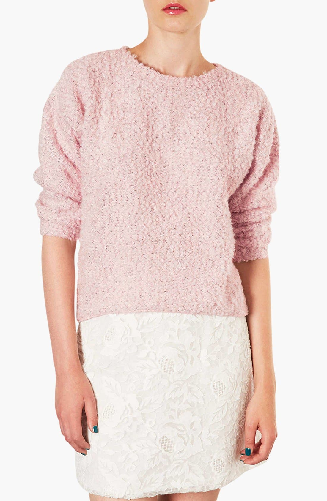 Alternate Image 1 Selected - Topshop Textured Sweater